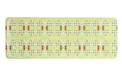 Souza Rooster Tiles Kitchen Mat Mat Size: Rectangle 1'8