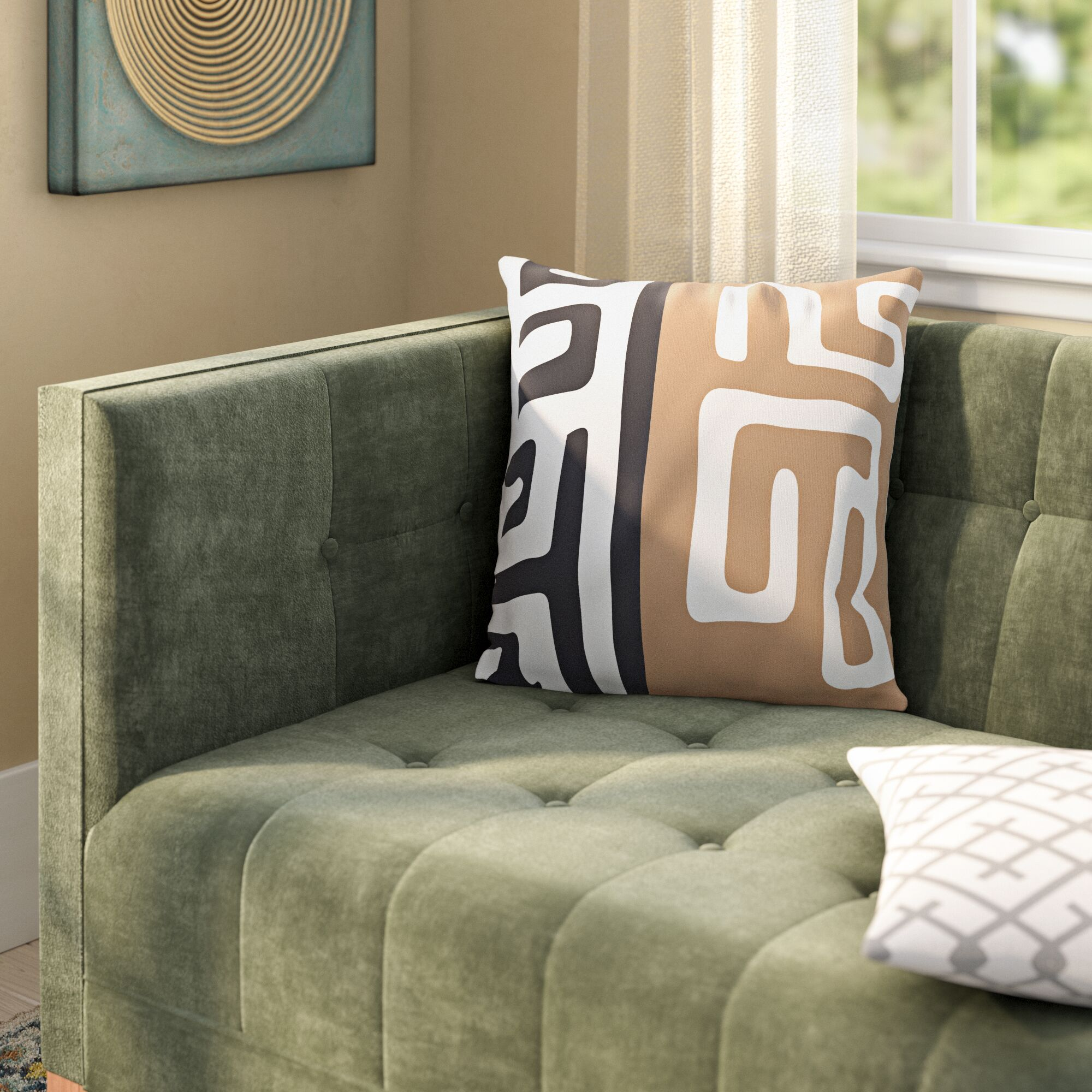 Jurado Pillow Cover Color: Blue/Multi