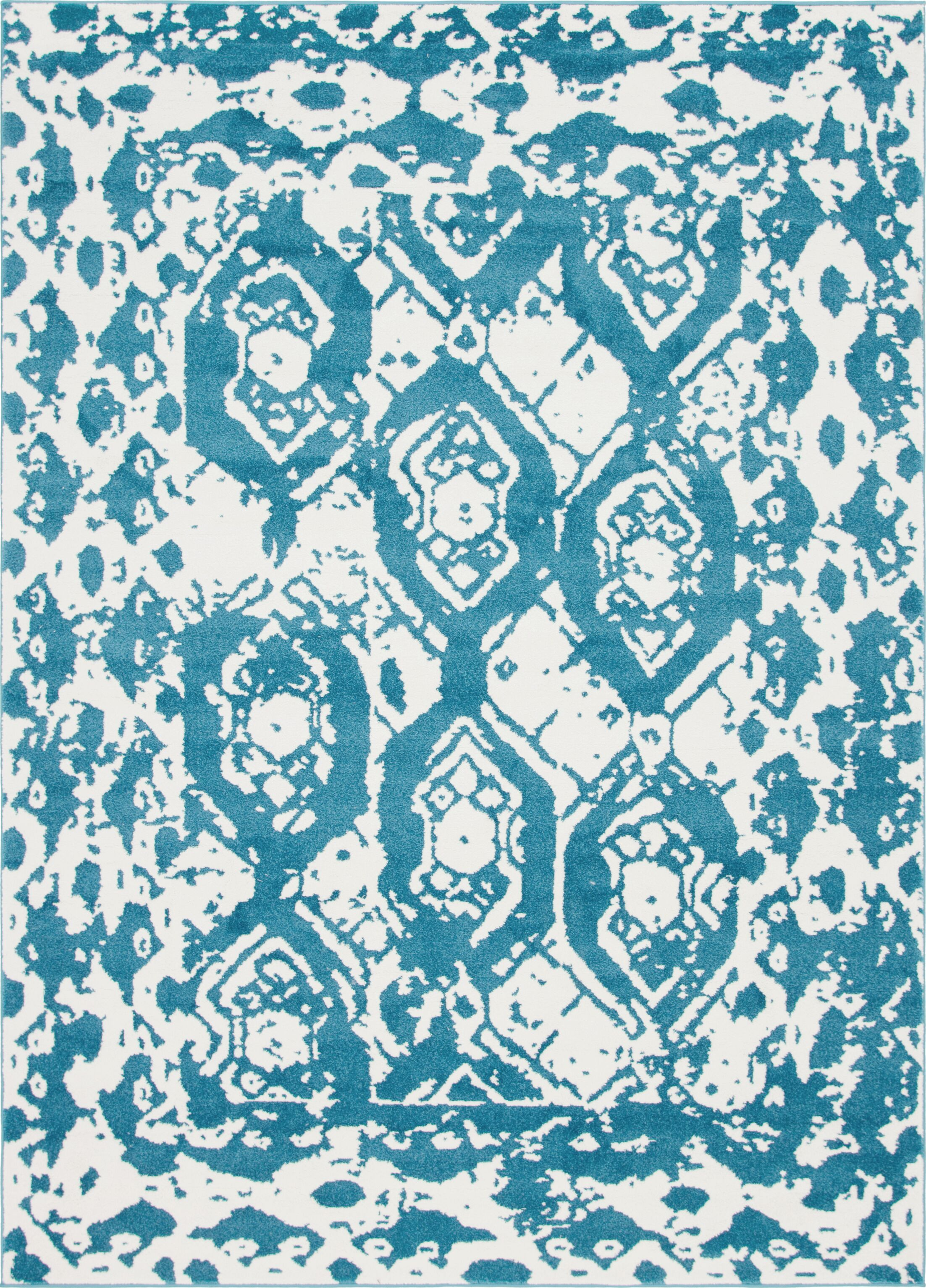 Hartell Blue Area Rug Rug Size: Rectangle 9' x 12'