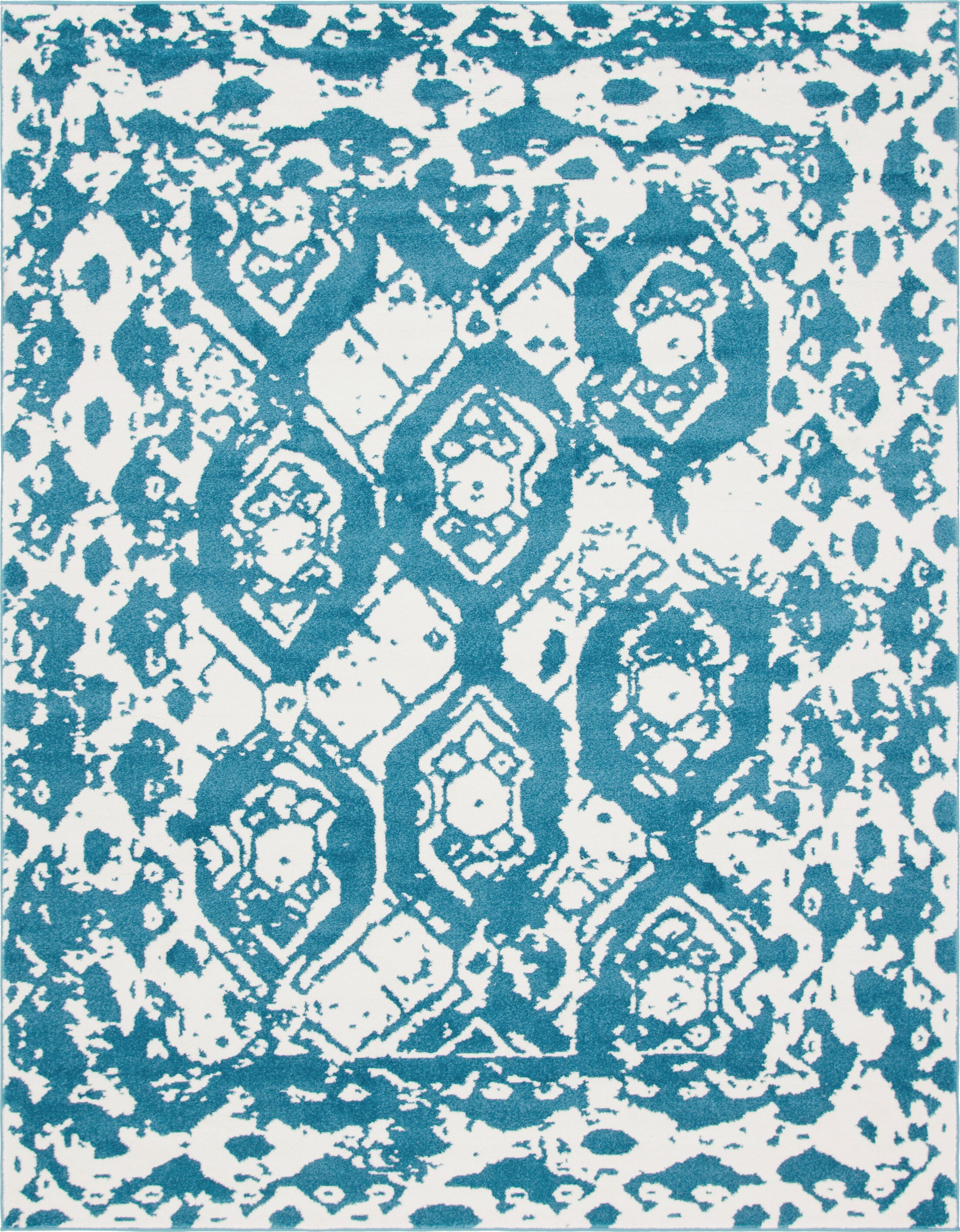 Hartell Blue Area Rug Rug Size: Rectangle 8' x 10'