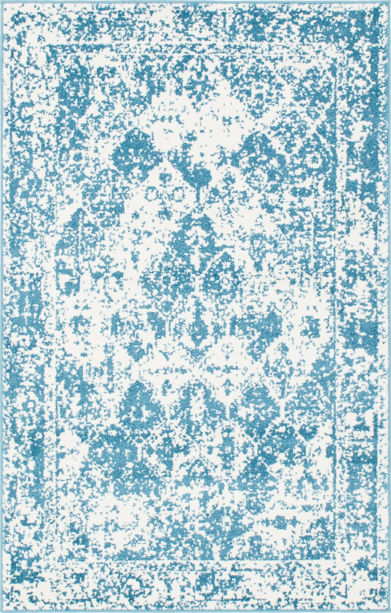 Hartell Blue Area Rug Rug Size: Rectangle 4' x 6'