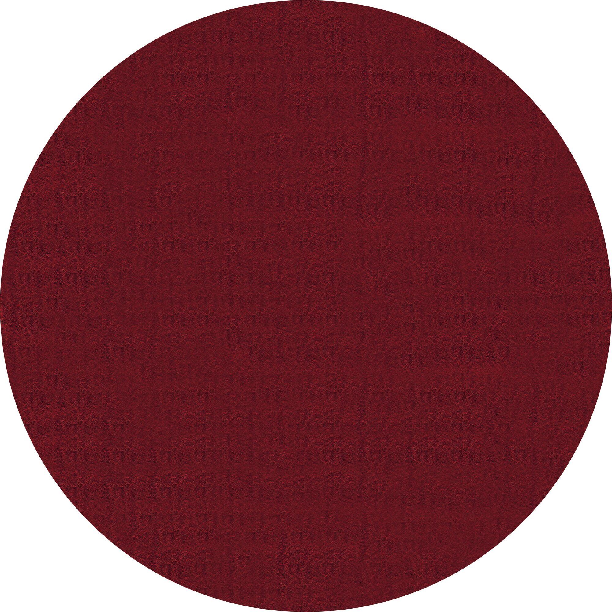 Rangel Red Area Rug Rug Size: Round 7' 10