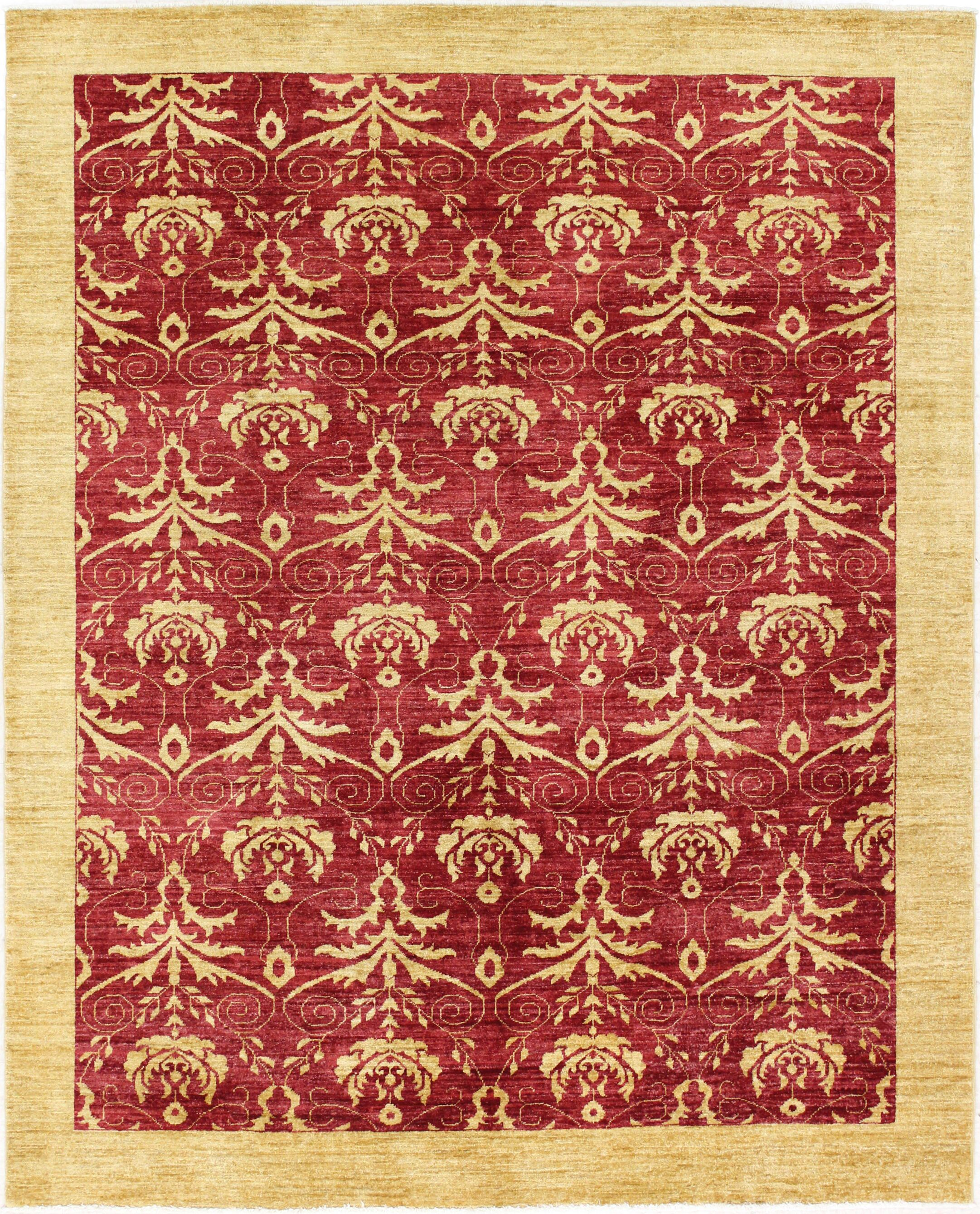 One-of-a-Kind Barfield Hand-Woven Wool Red/Gold Area Rug