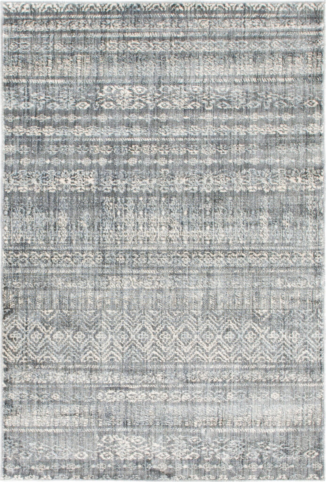 Montross Gray Area Rug Rug Size: Rectangle 4' x 6'