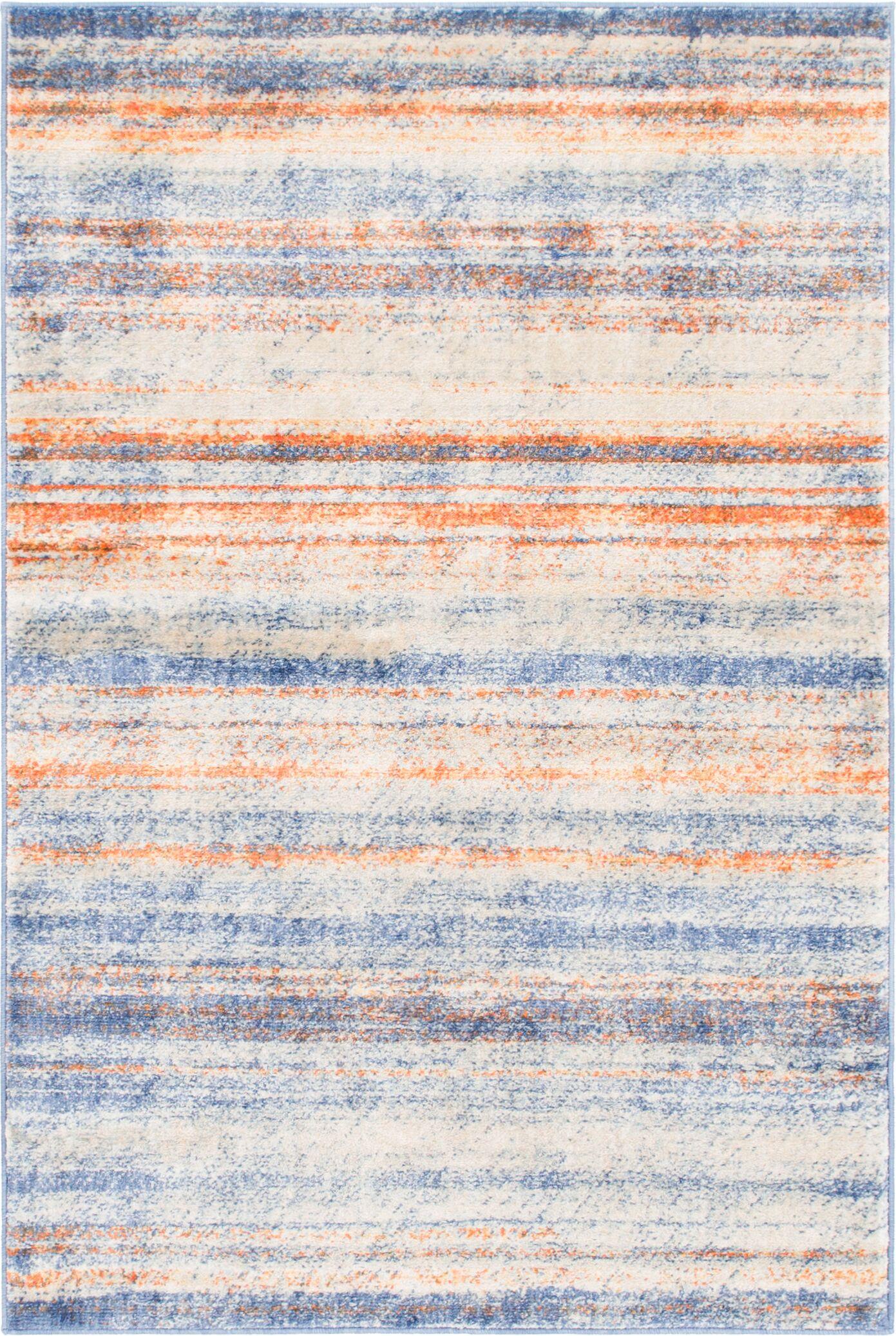 Montross Blue/Orange Area Rug Rug Size: Rectangle 4' x 6'