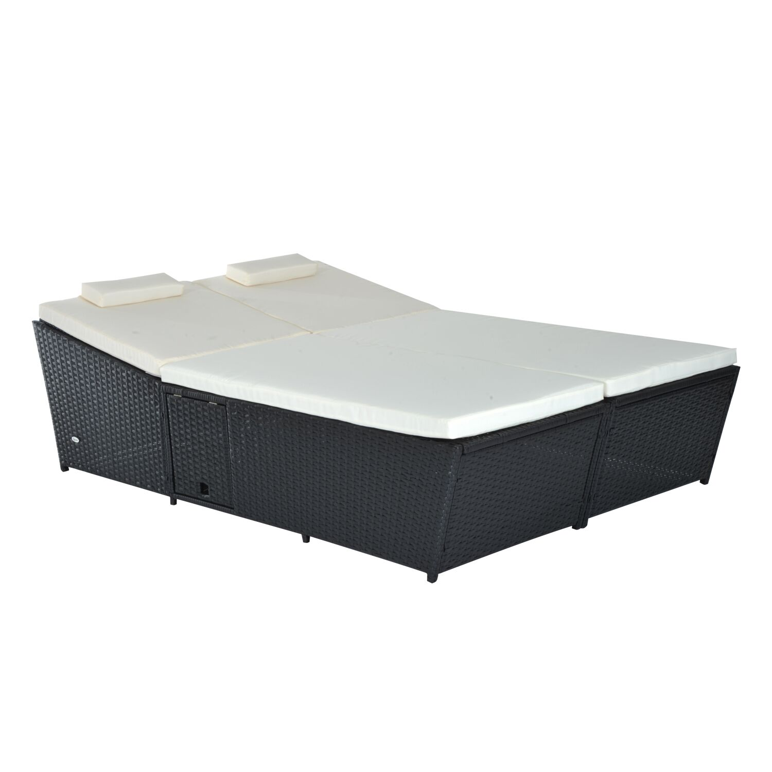 Gowdy Outdoor Rattan/Wicker 2-Person Daybed Color: Black