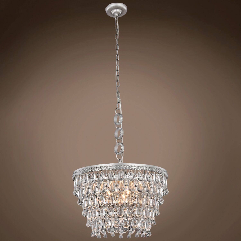 Fonso Teardrop 5-Light Crystal Chandelier Bulb Type: Incandescent