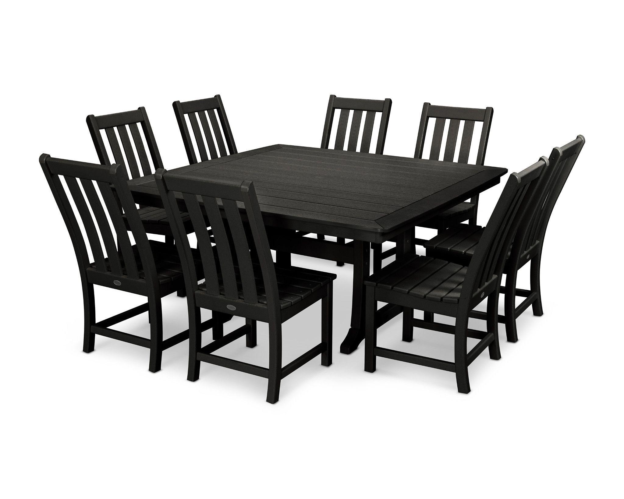 Vineyard 9 Piece Dining Set Color: Black
