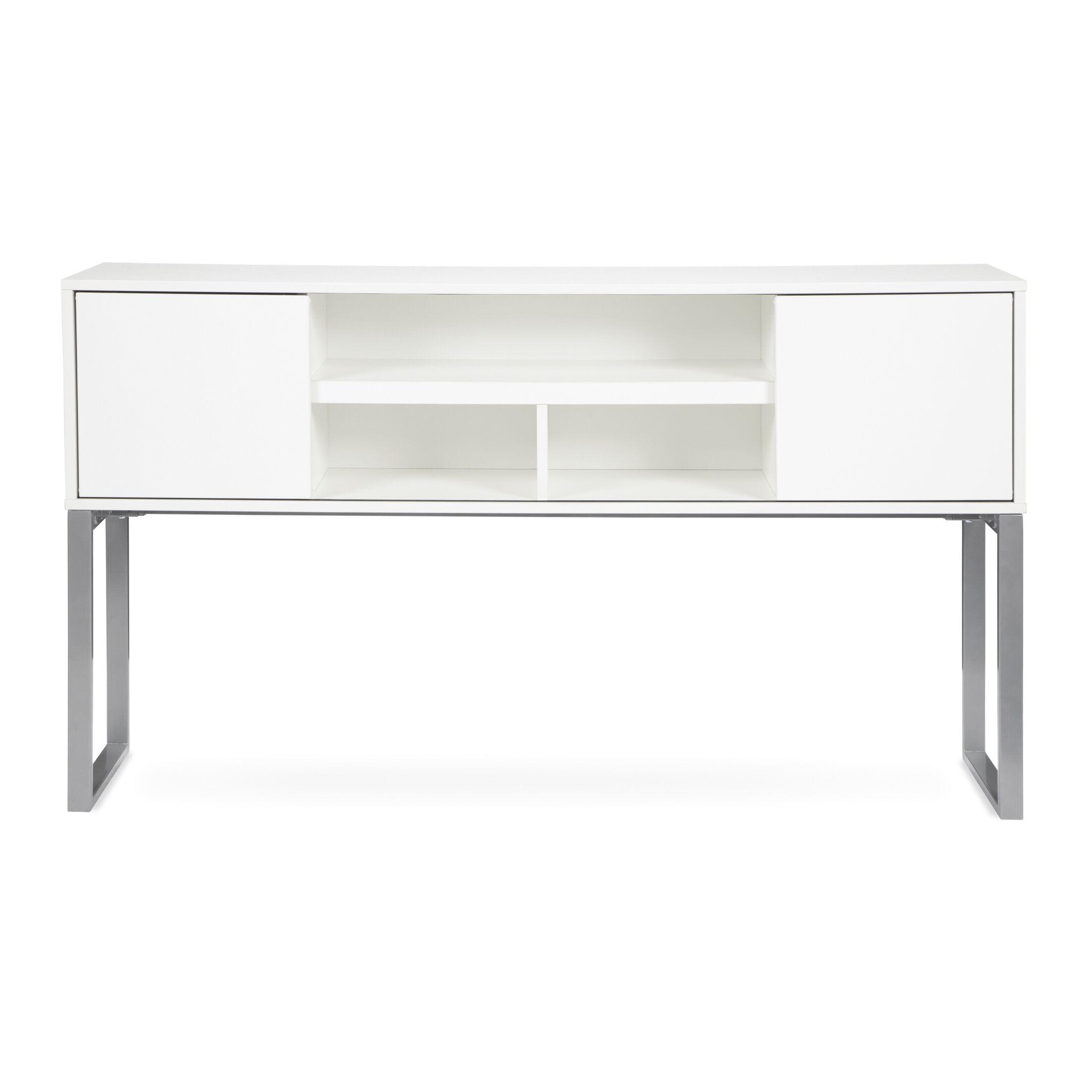 Gerth Desk Hutch for Storage Color: White, Size: 37