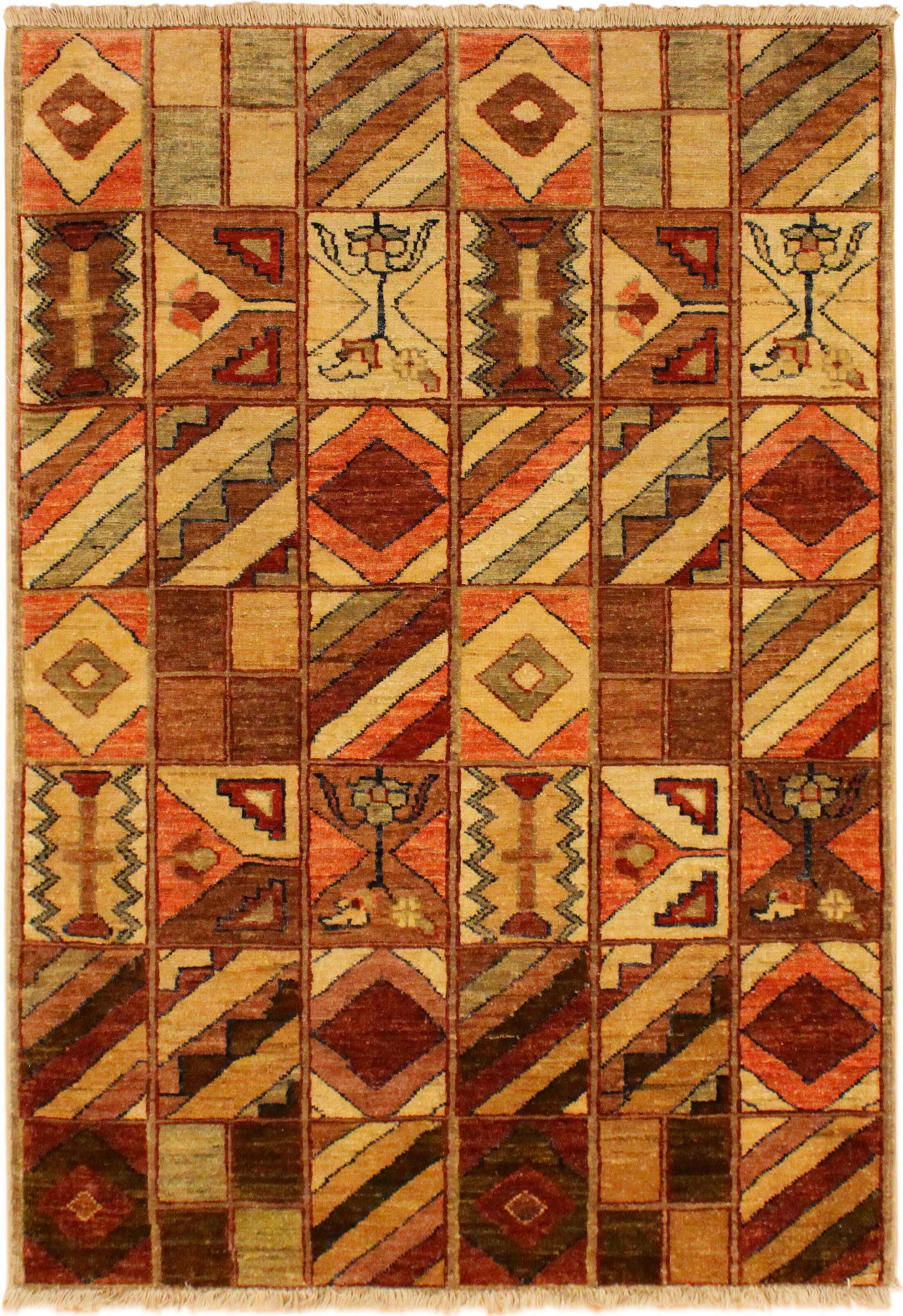 One-of-a-Kind Roeder Hand-Knotted Wool Tan/Brown Area Rug
