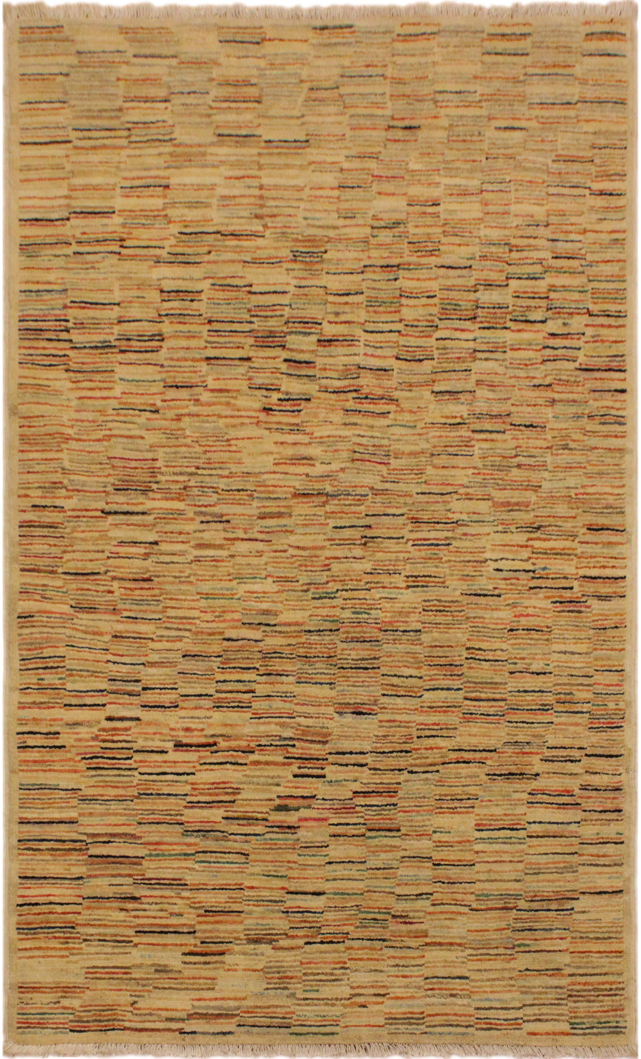 One-of-a-Kind Roeder Hand-Knotted Wool Tan/Rust Area Rug
