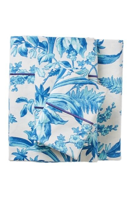 Laforge Floral 400 Thread Count 100% Cotton Sheet Set Size: California King