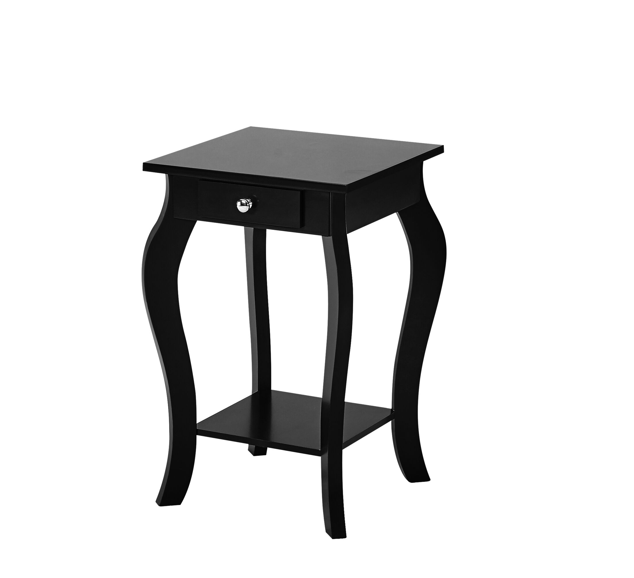 Rockhill Square End Table with Storage Color: Black
