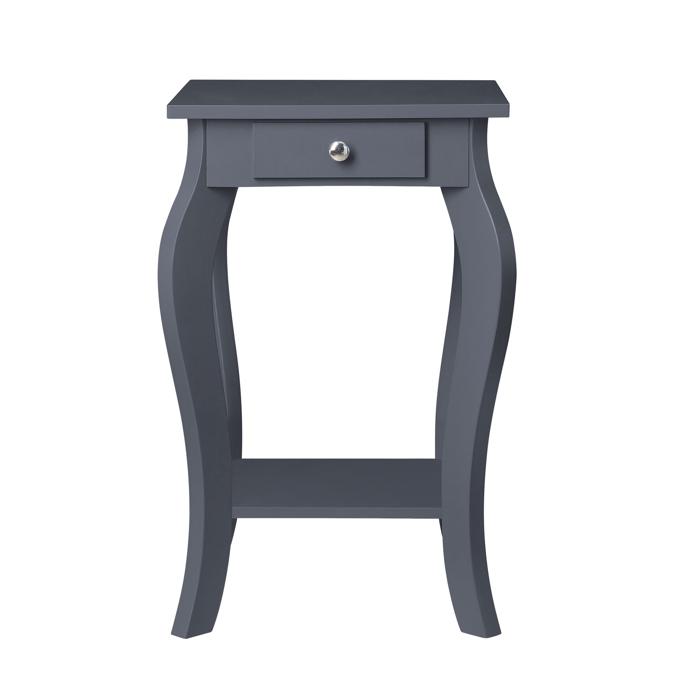 Rockhill Square End Table with Storage Color: Gray