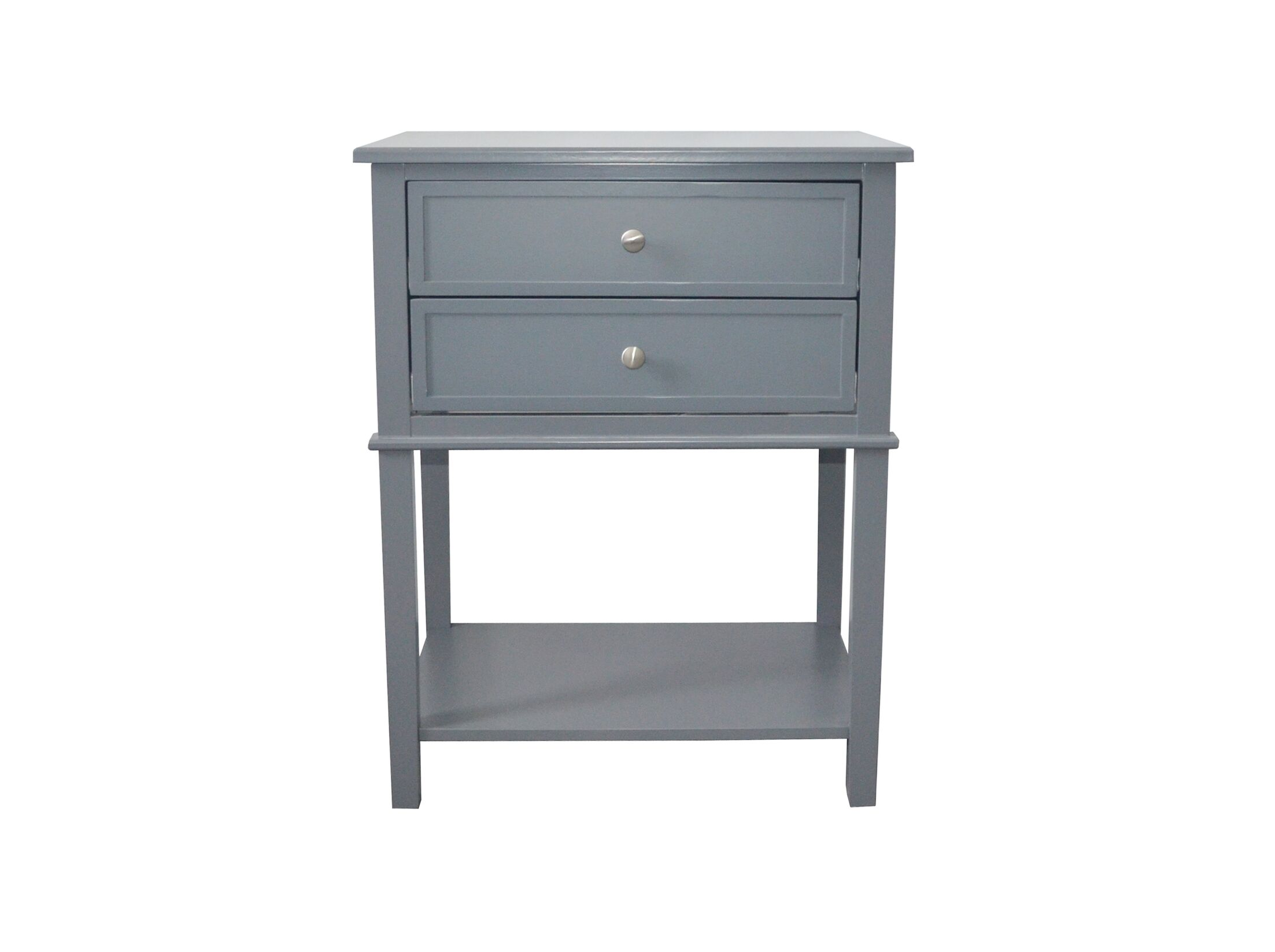 Robesonia End Table with Storage Color: Gray