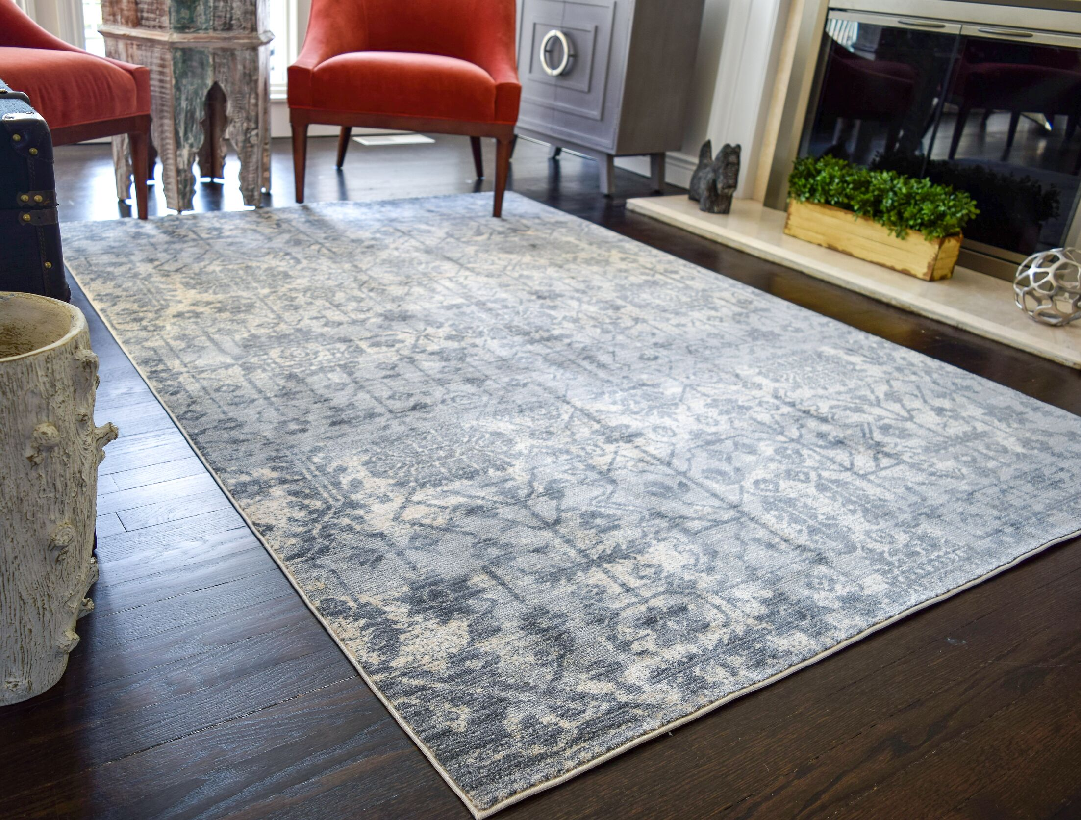 Park Vintage Transitional Ivory/Gray Area Rug Rug Size: Rectangle 2' x 6'5