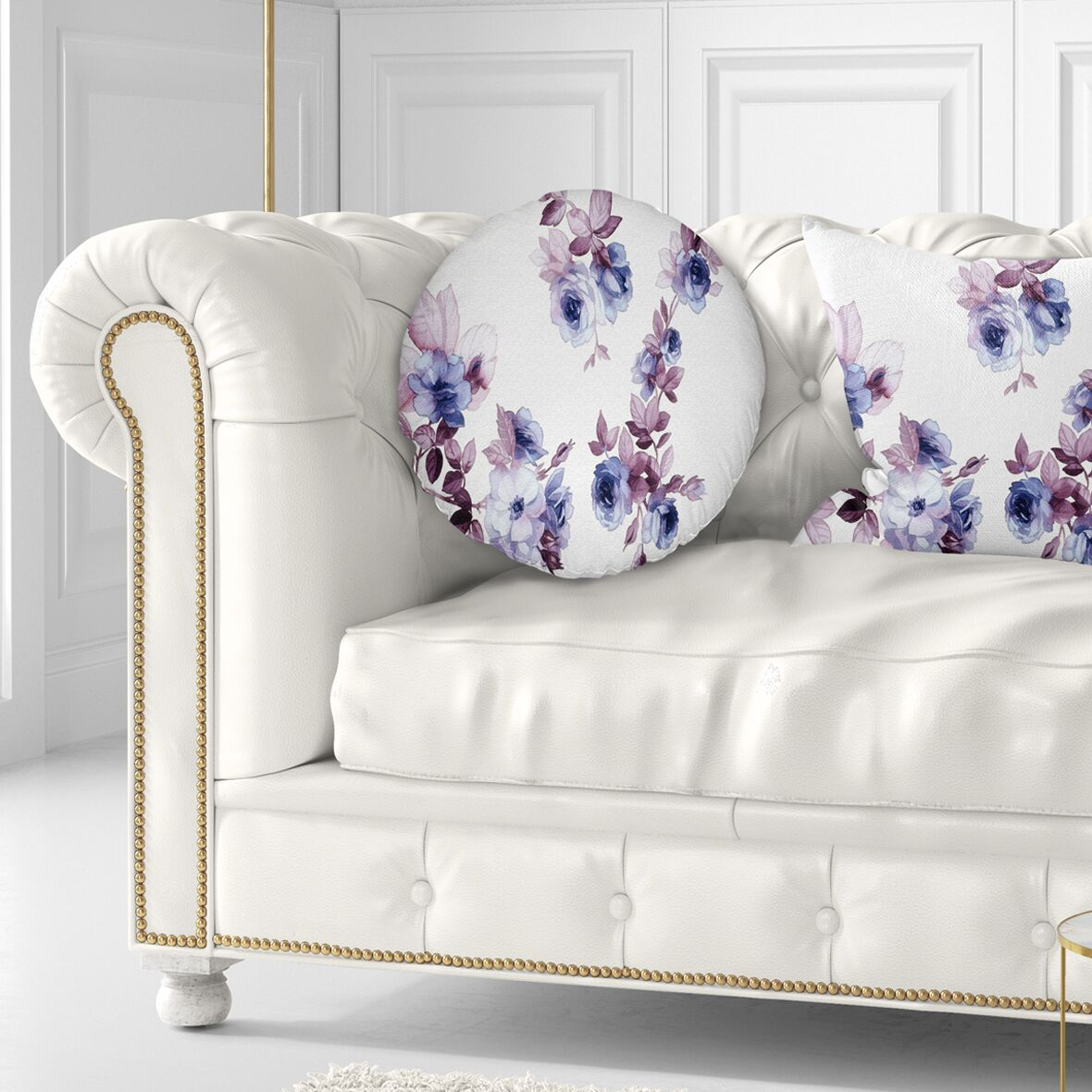 Floral Watercolor Flowers Throw Pillow Size: 20