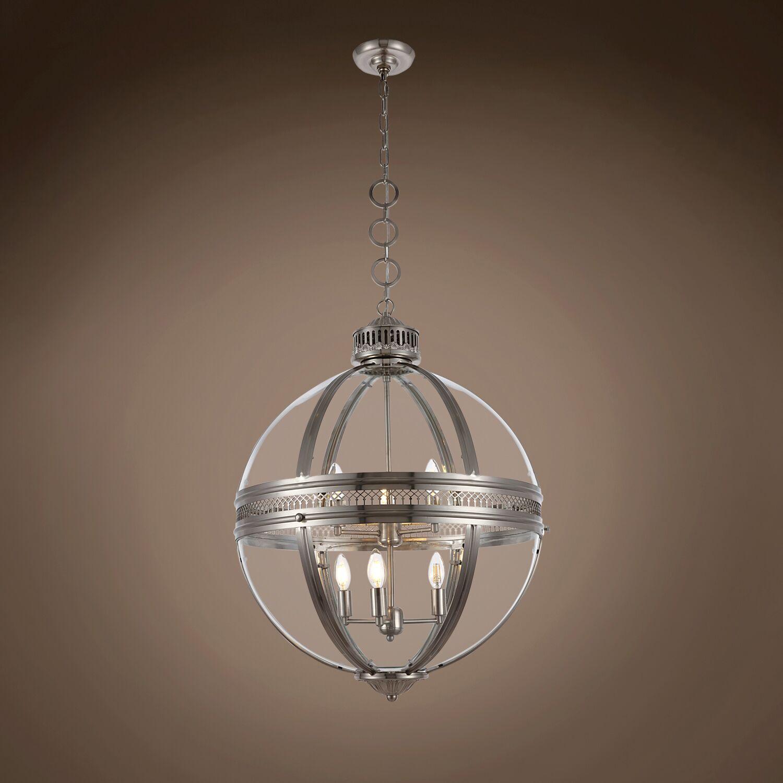 Fedler 6-Light Globe Pendant Bulb Type: No Bulbs