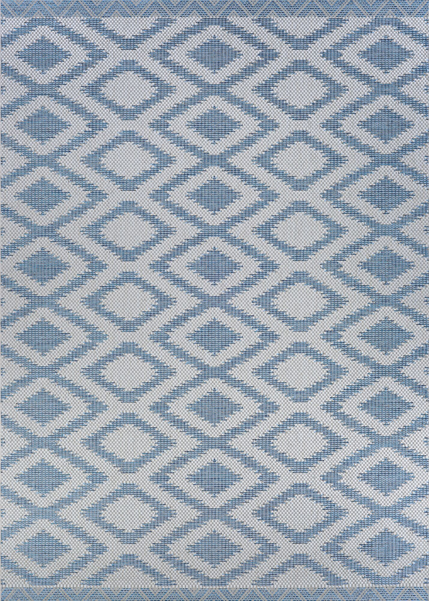 Temple Cloud Blue Indoor/Outdoor Area Rug Rug Size: Rectangle 5'3