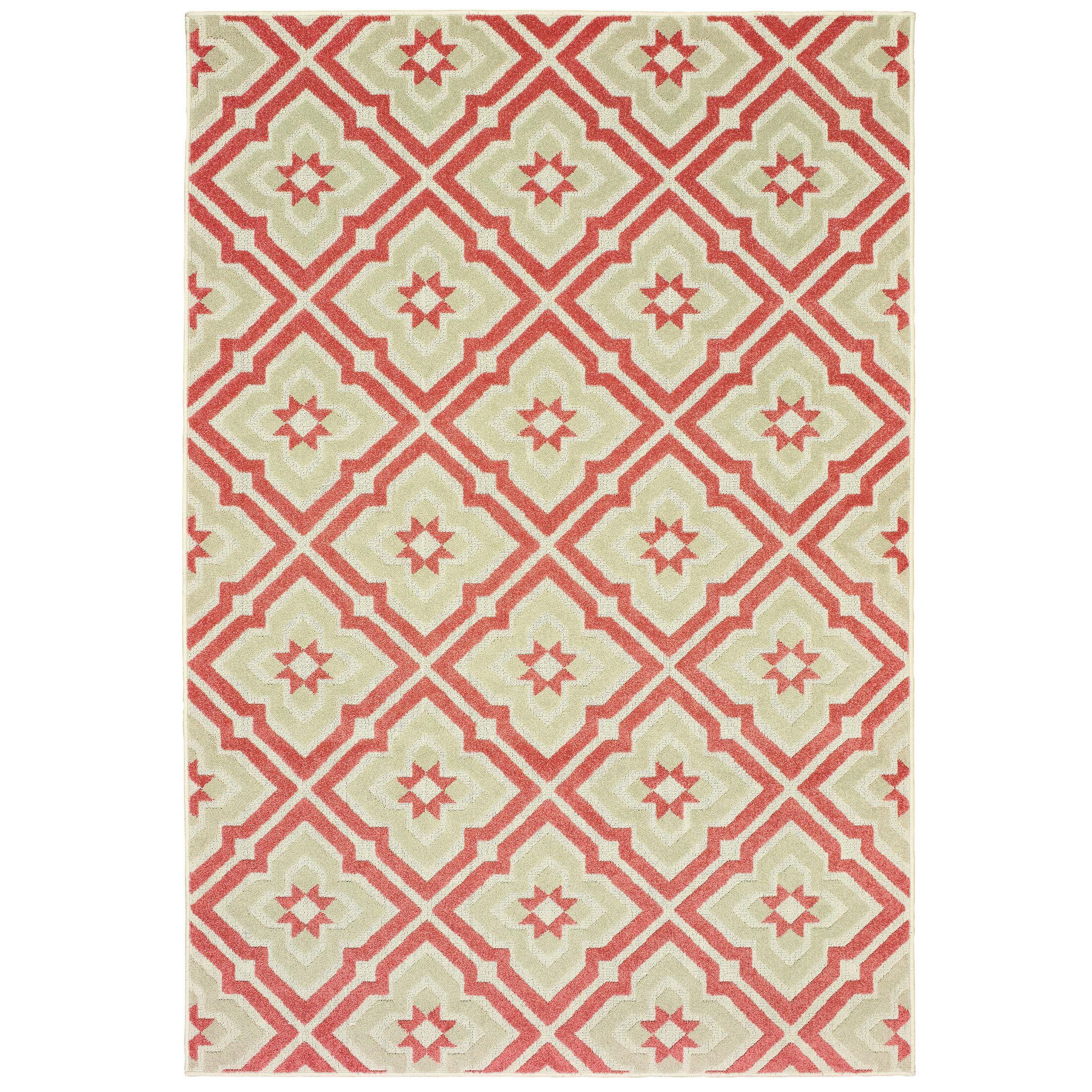 Fluellen Pink/Beige Indoor/Outdoor Area Rug Rug Size: Rectangle 6'7