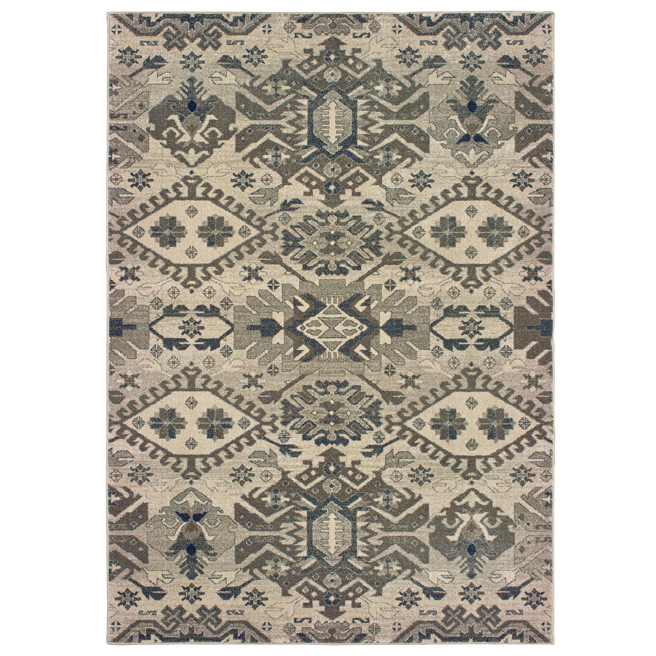 Fluker Tribal Gray Area Rug Rug Size: Rectangle 12' x 15'