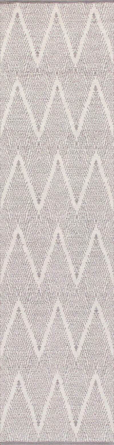 Simplicity Hand-Woven Cotton Gray Area Rug Rug Size: Rectangle 9' 0