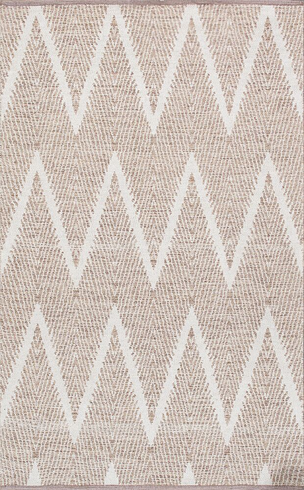 Simplicity Hand-Woven Cotton Beige Area Rug Rug Size: Runner 2' 6