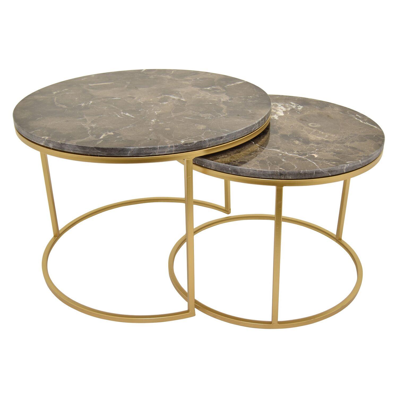 Gimenez Metal Top 2 Piece Nesting Tables