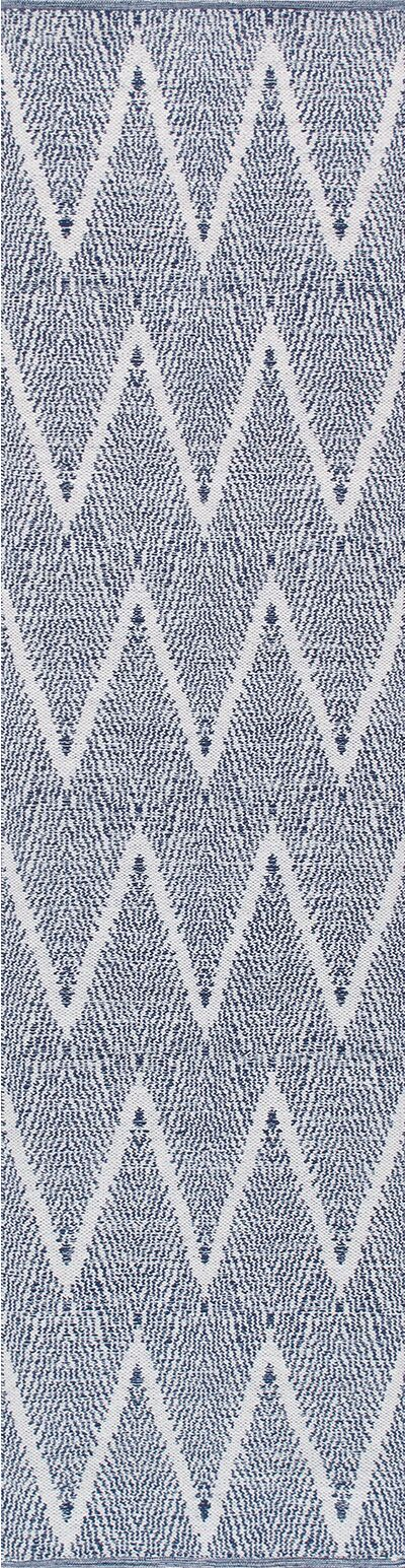 Simplicity Hand-Woven Cotton Navy Area Rug Rug Size: Rectangle 8' 0