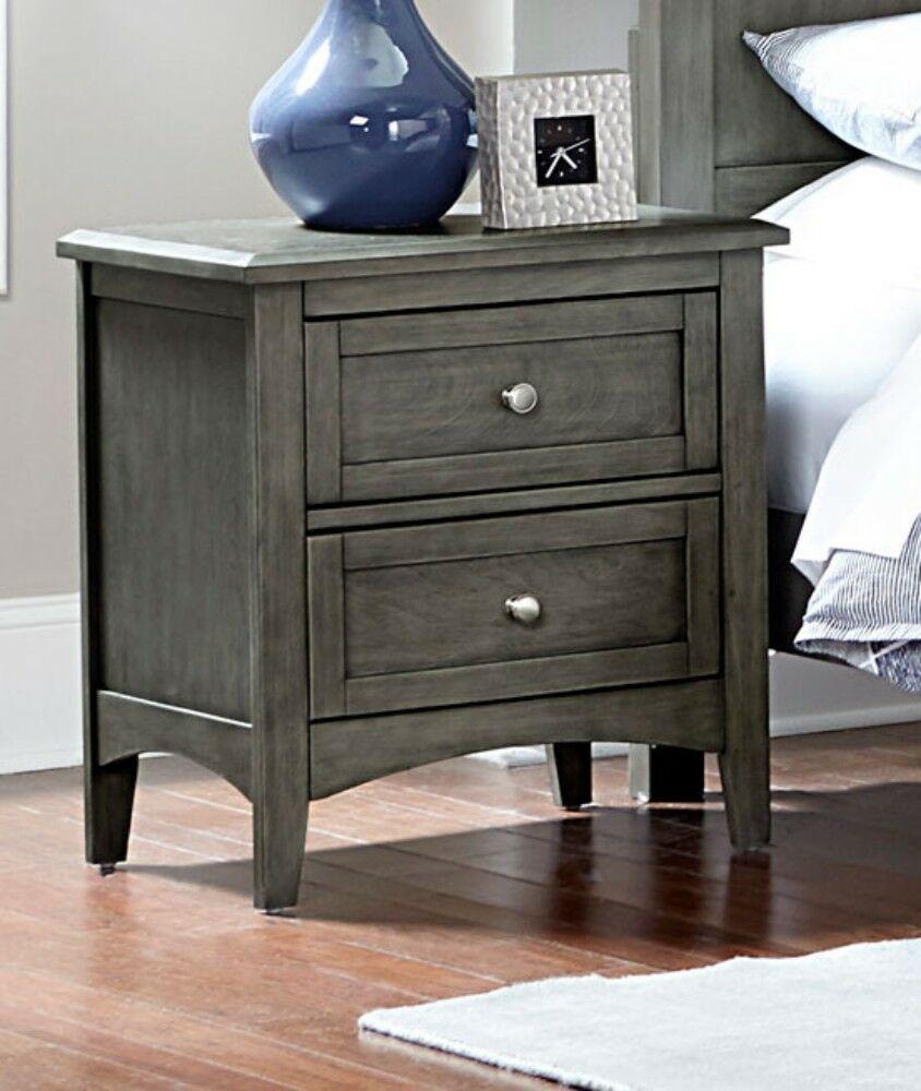 Fontanez Wooden 2 Drawer Nightstand