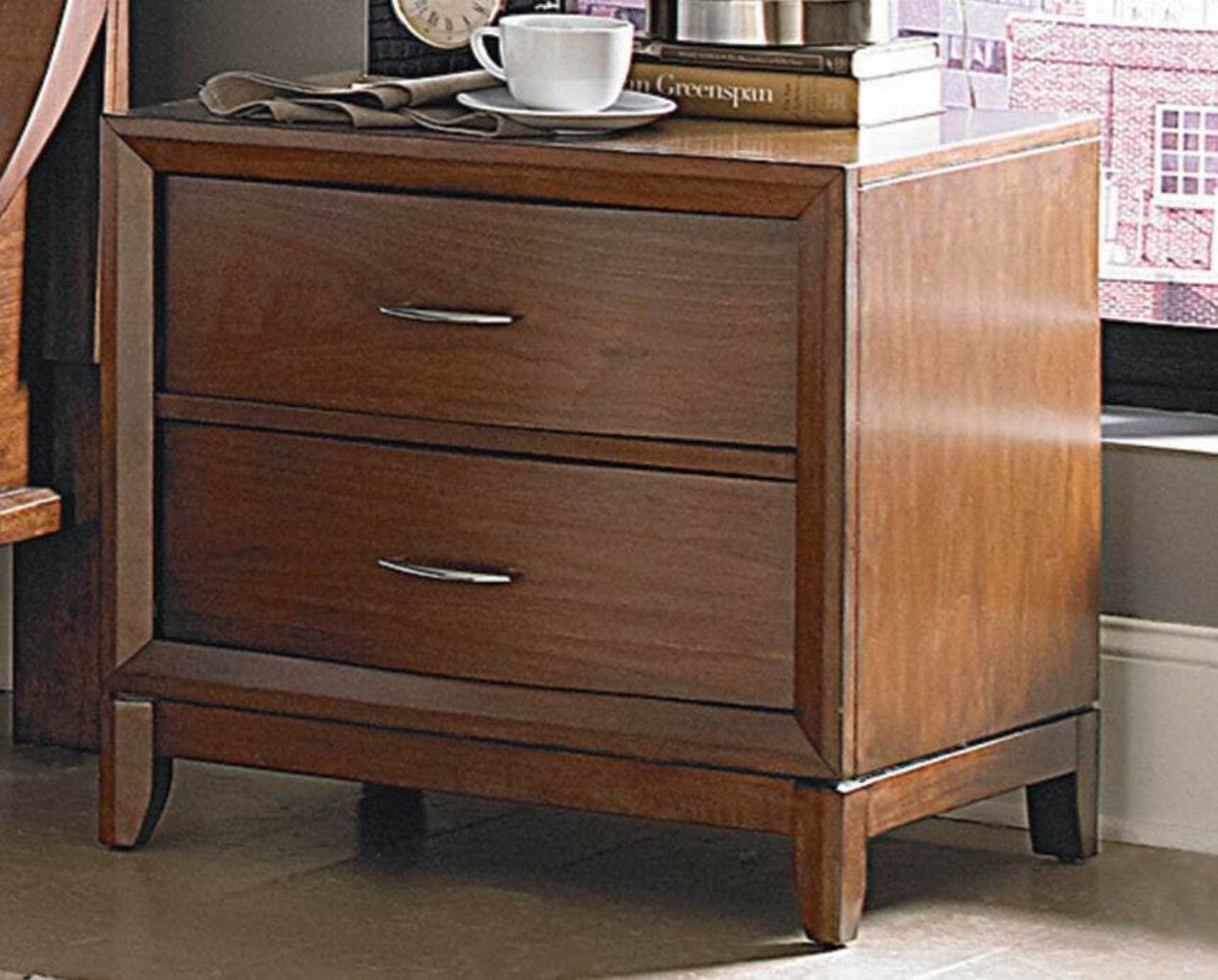 Eberly Wooden 2 Drawer Nightstand
