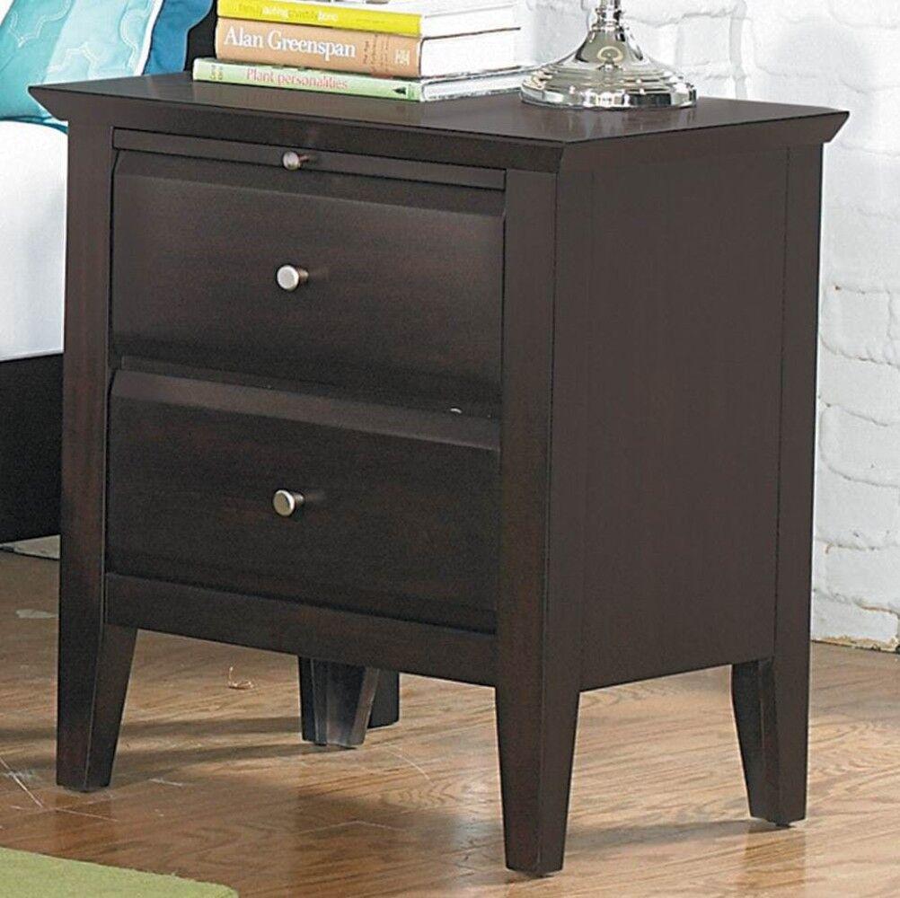 Germann Wooden 2 Drawer Nightstand