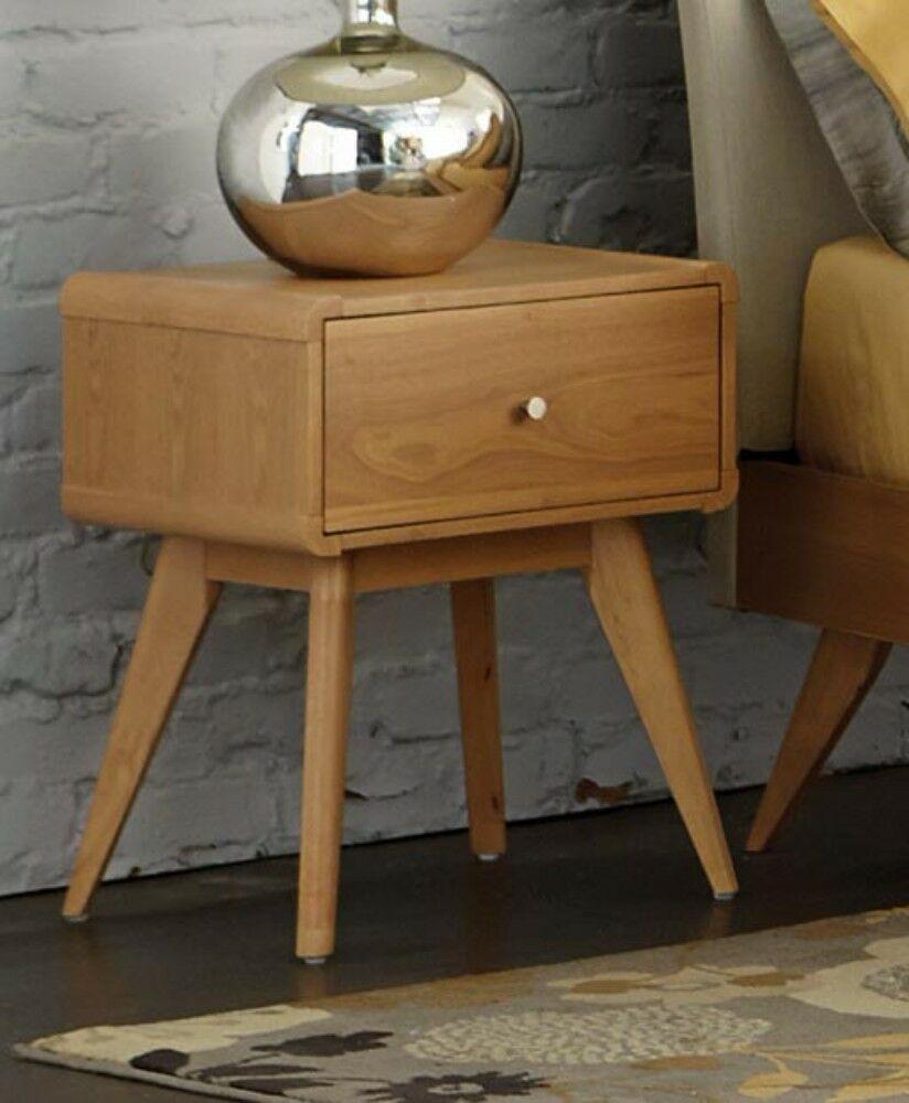 Eberhard Wooden 1 Drawer Nightstand