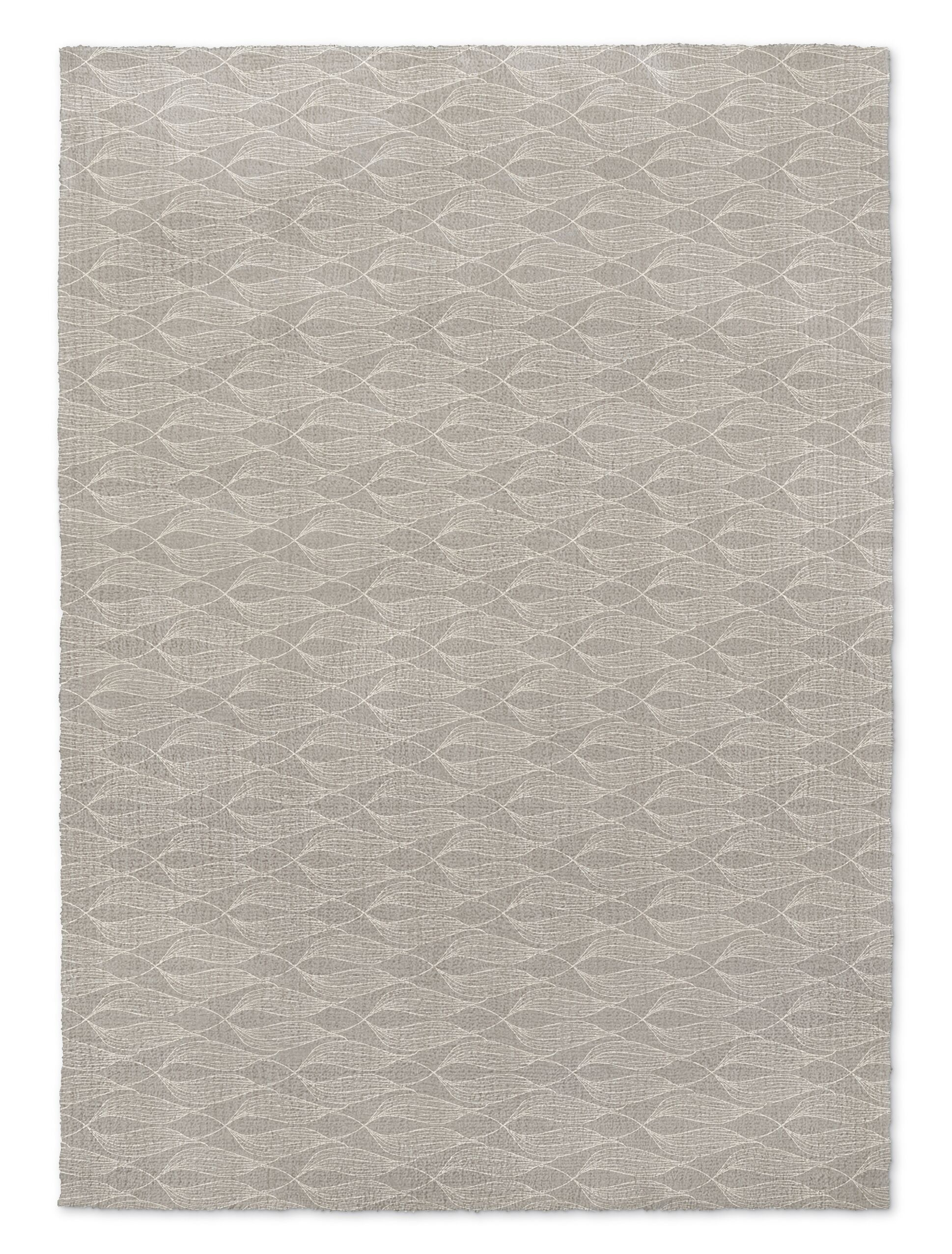Groce Light Gray Area Rug Rug Size: Rectangle 8' x 10'