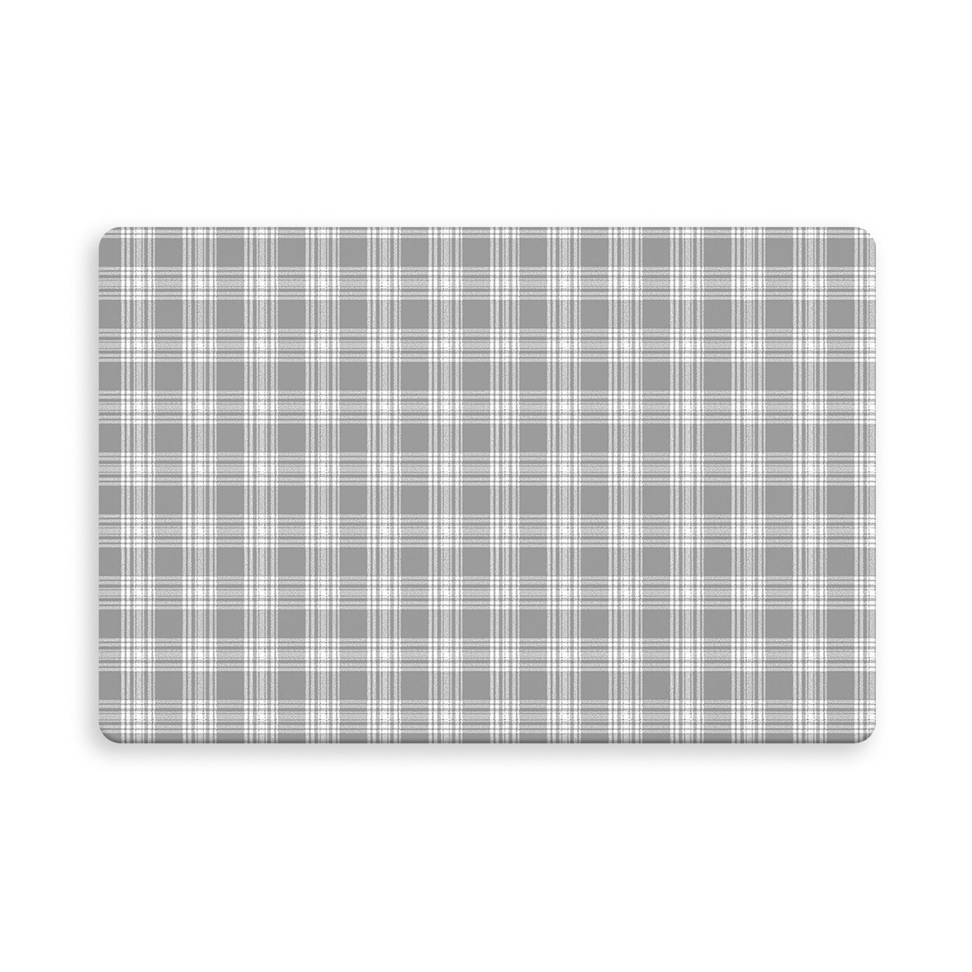 Wooten Plaid Doormat Color: Dark Gray, Mat Size: Rectangle 2'6