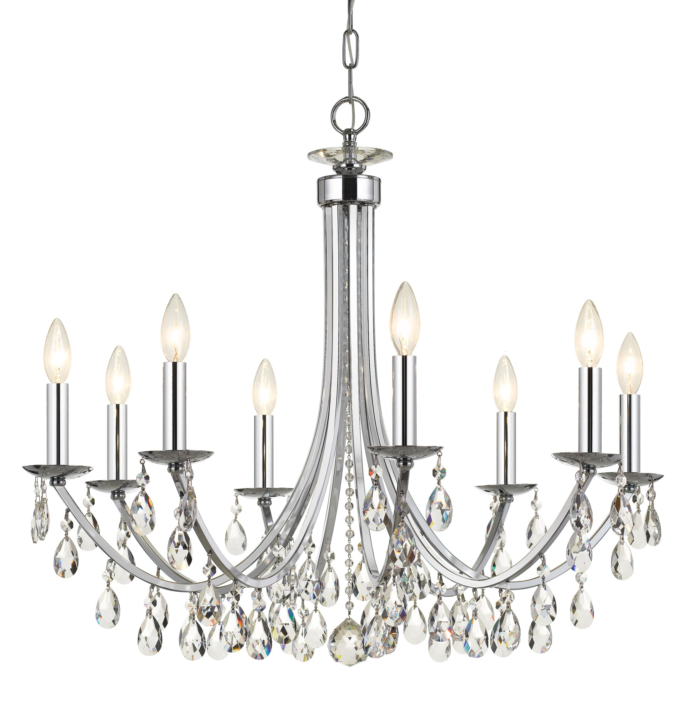 Catchings 8-Light Candle-Style Chandelier Finish: Chrome