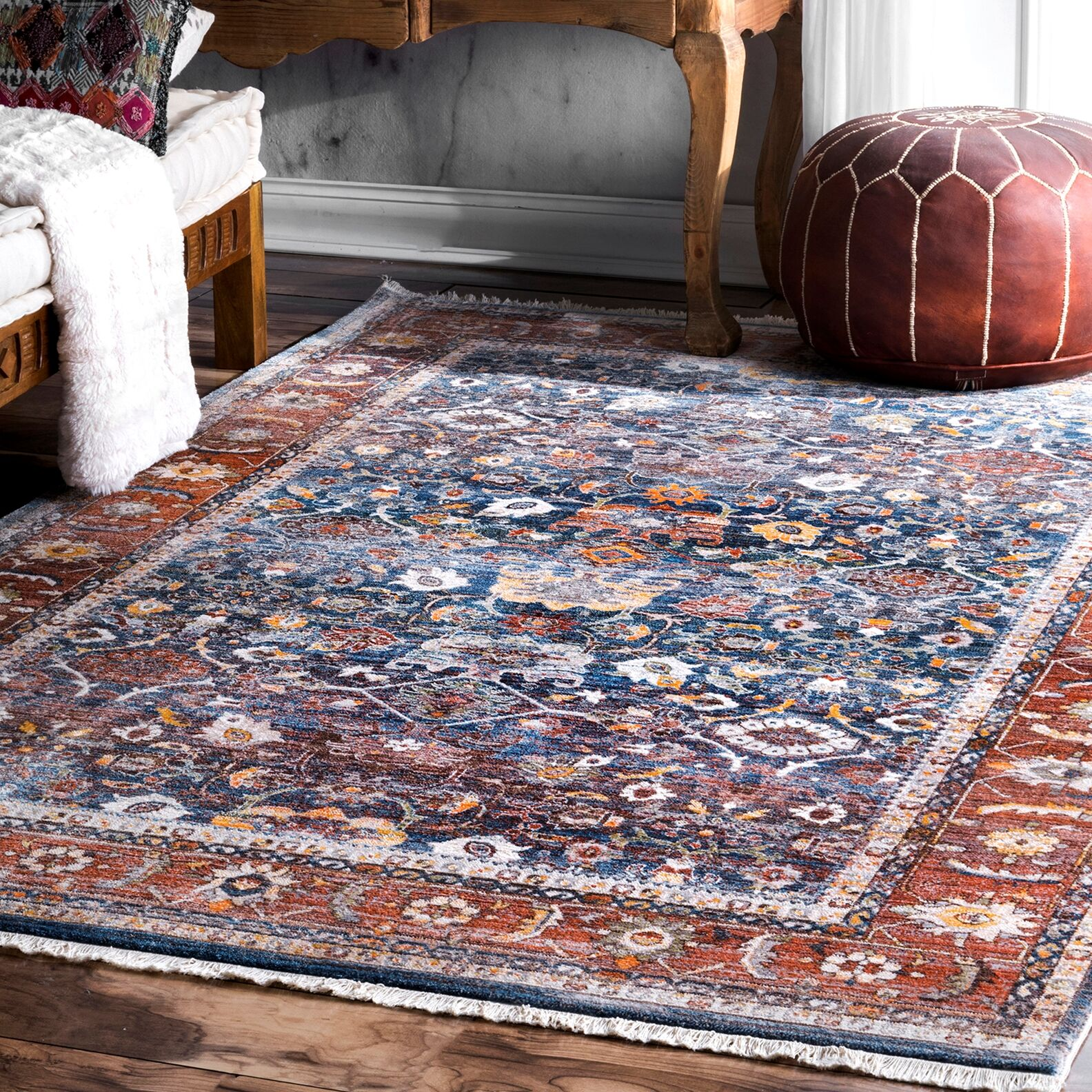 Feldmann Brown Area Rug Rug Size: Rectangle 6' 7