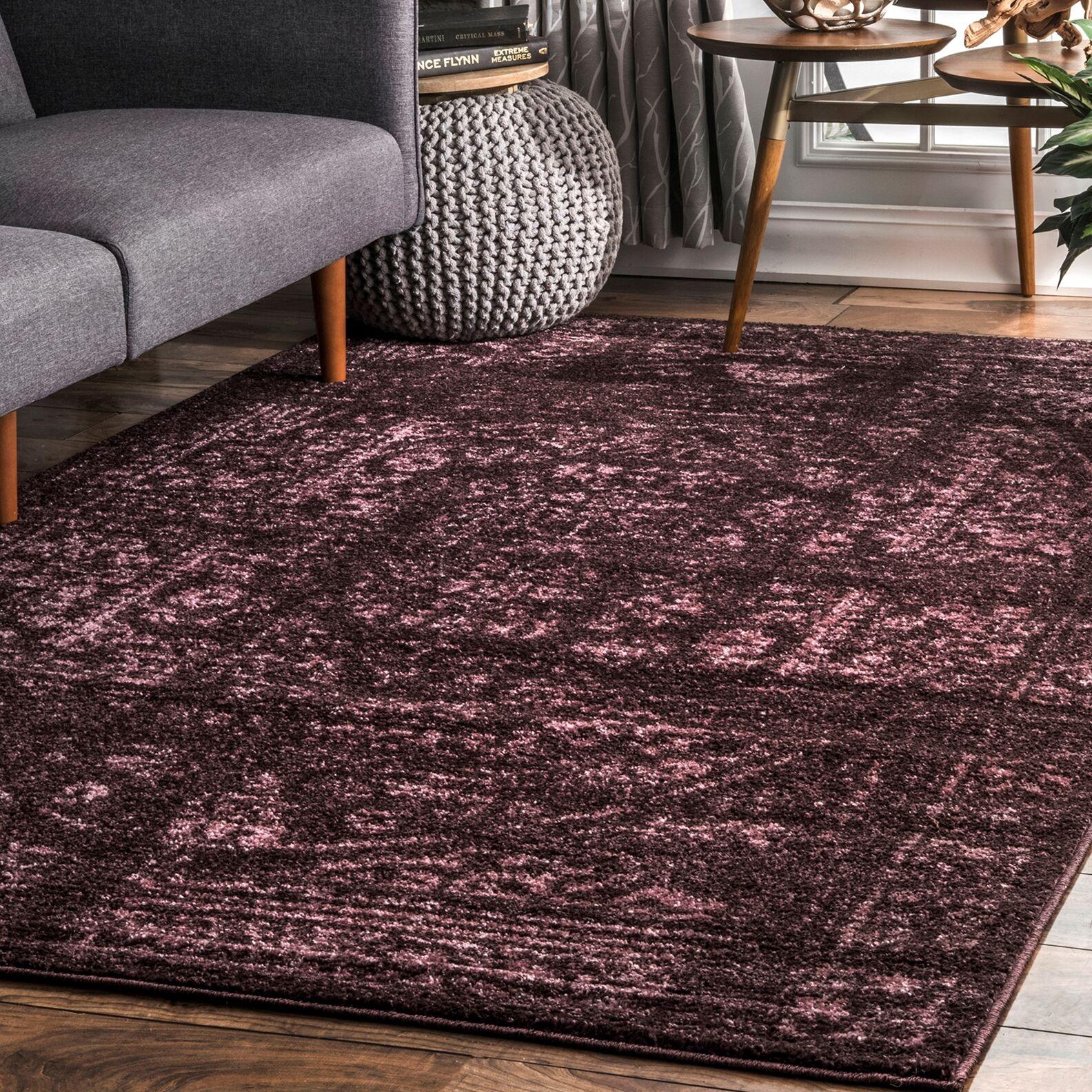 Fegan Dark Gray Area Rug Rug Size: Rectangle 5' x 8'