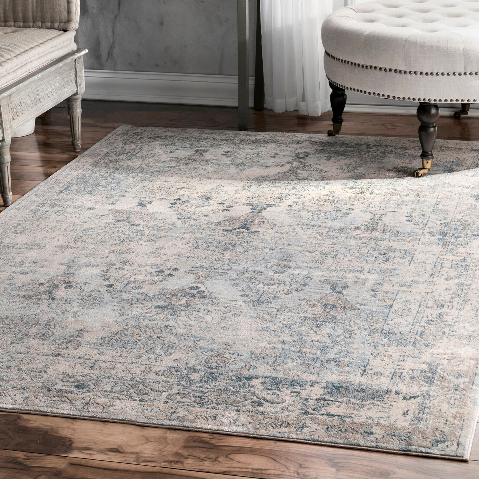 Wimberley Hand-Woven Cotton Beige Area Rug Rug Size: Rectangle 7'6