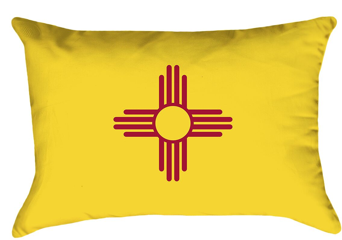 Centers New Mexico Flag Product Type: Lumbar Pillow, Cover Material: Poly Proplin-Concealed Zipper and Insert-Indoor, Fill Material: Polyester
