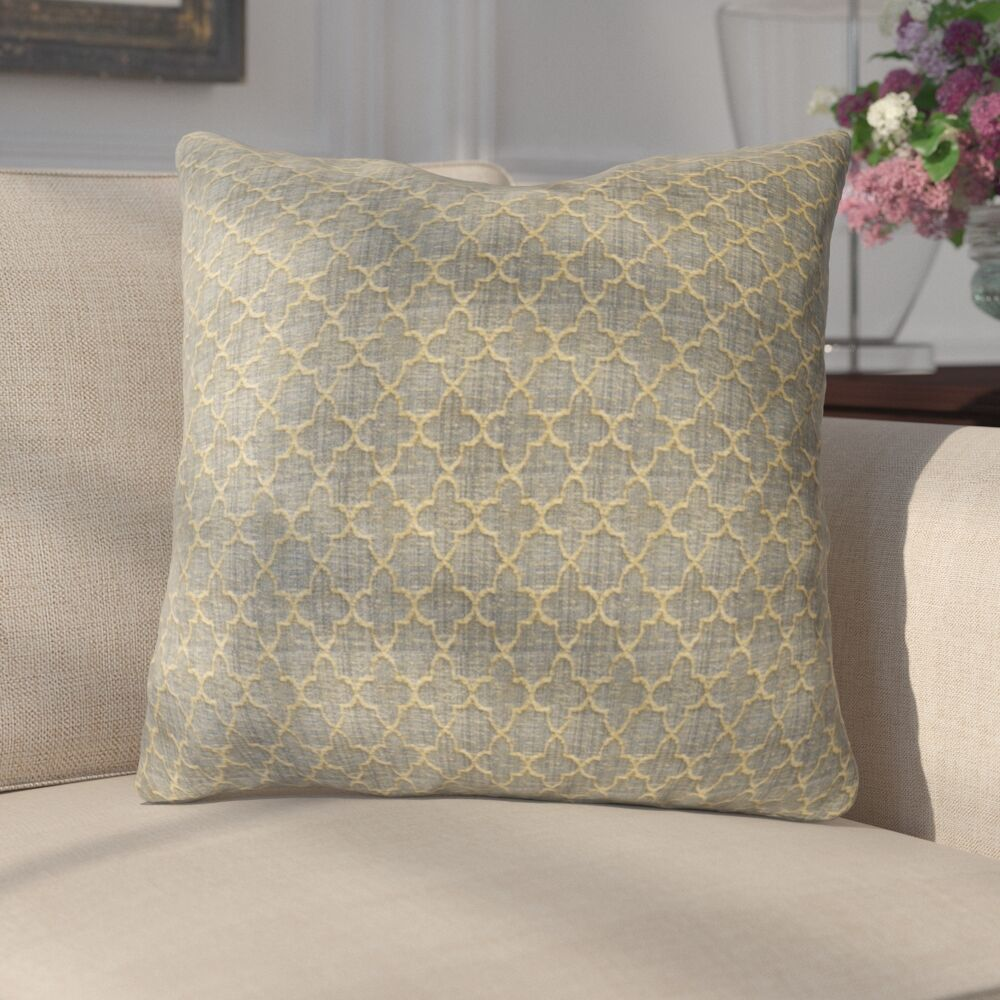 Salters Luxury Throw Pillow Size: 26