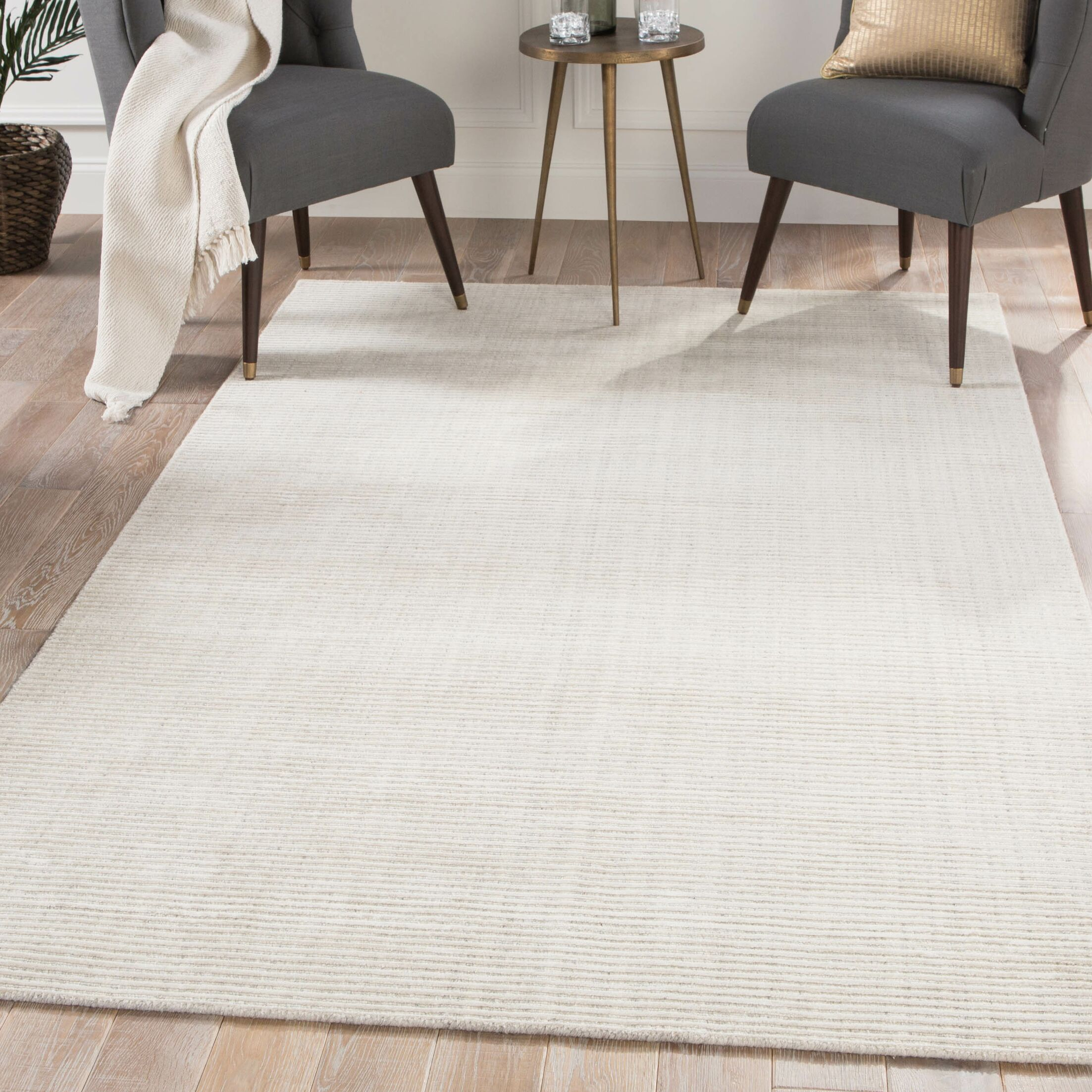 Eastvale Hand loomed White Area Rug Rug Size: Rectangle 9' x 12'
