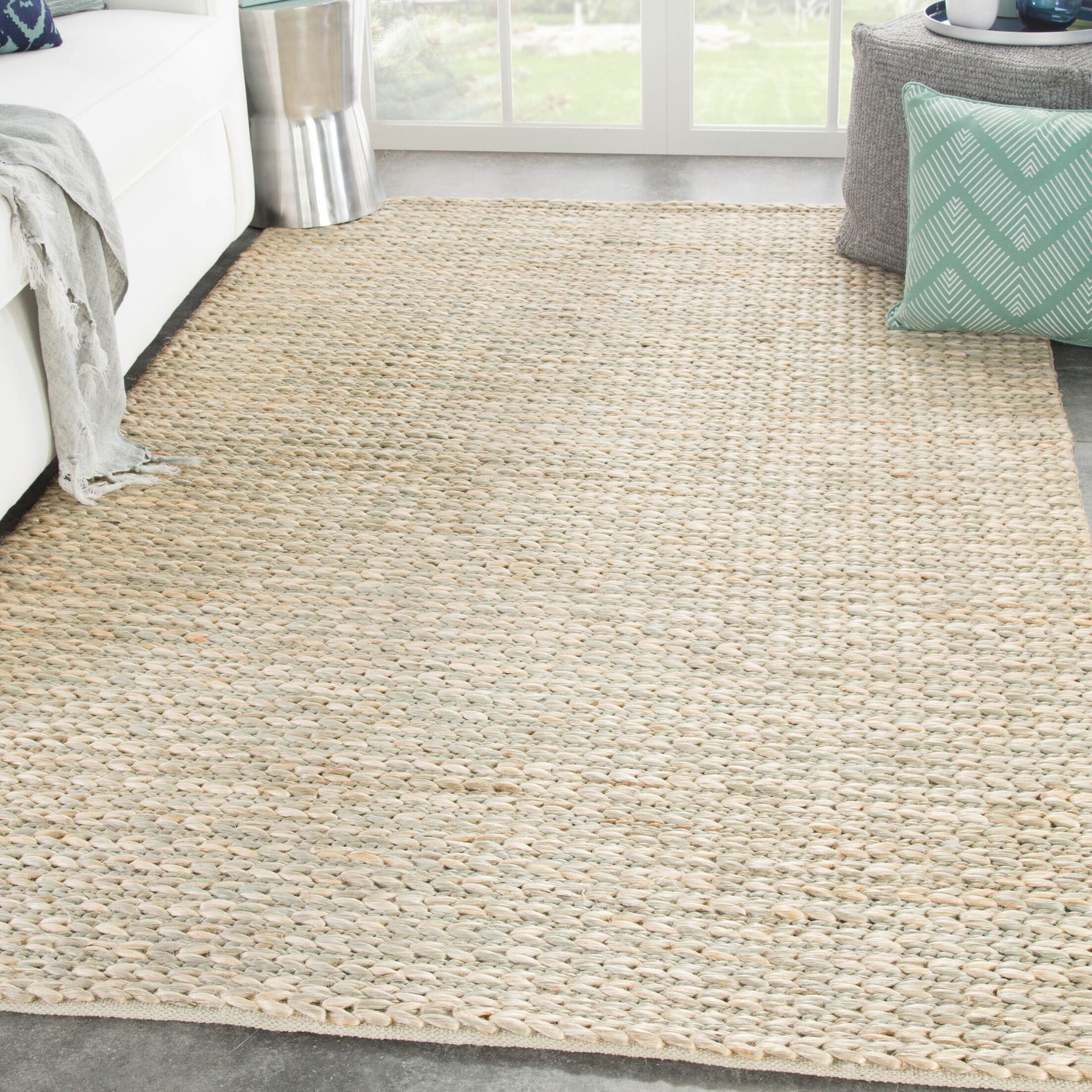 Giselle Solid Natural Tan Area Rug Rug Size: Rectangle 9' x 12'