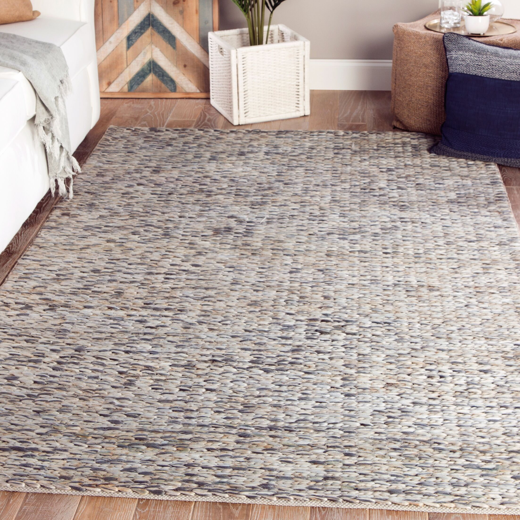 Giselle Natural Beige/Gray Area Rug Rug Size: Rectangle 9' x 12'