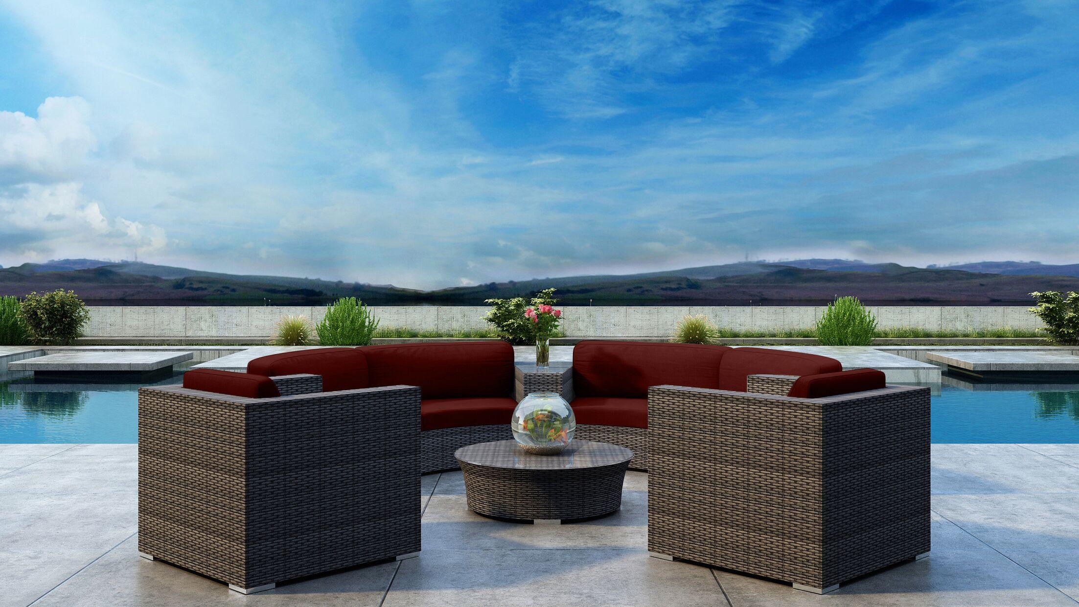 Gilleland 6 Piece Sectional Set with Sunbrella Cushion Cushion Color: Canvas Henna