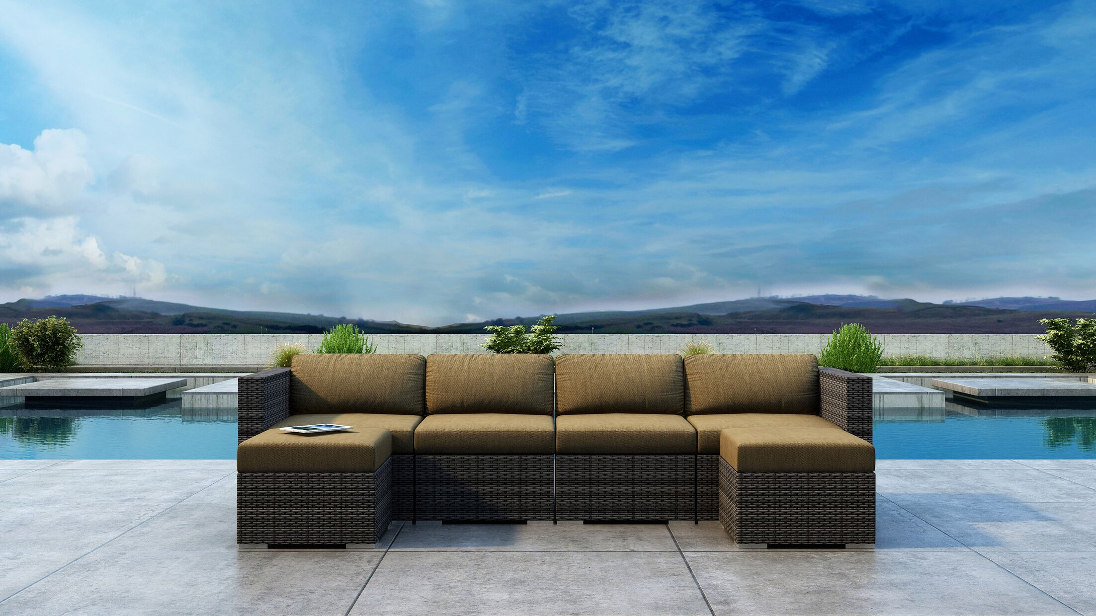 Gilleland 6 Piece Sectional Set with Sunbrella Cushion Cushion Color: Heather Beige