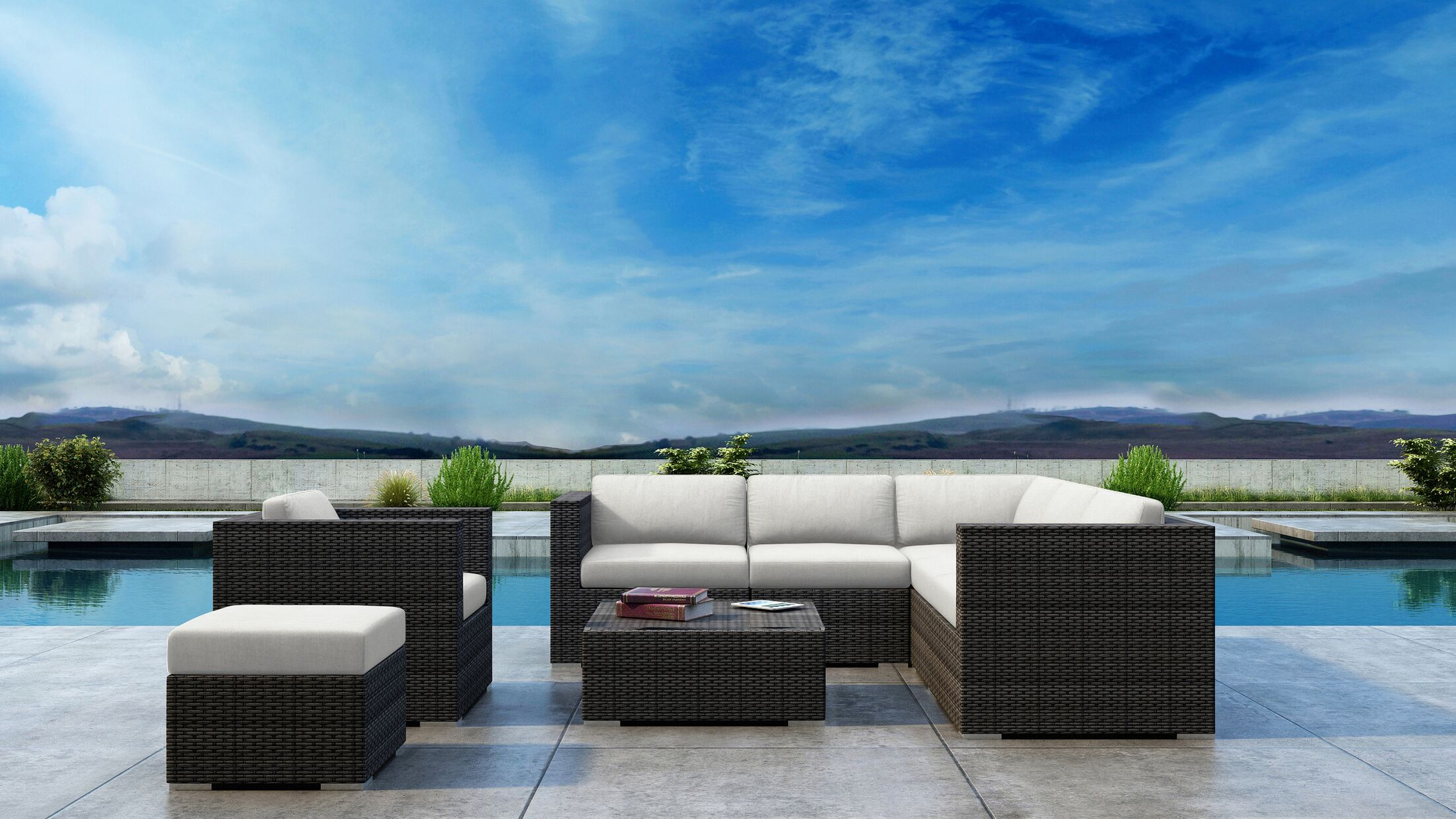 Gilleland 8 Piece Sectional Set with Sunbrella Cushion Cushion Color: Canvas Natural