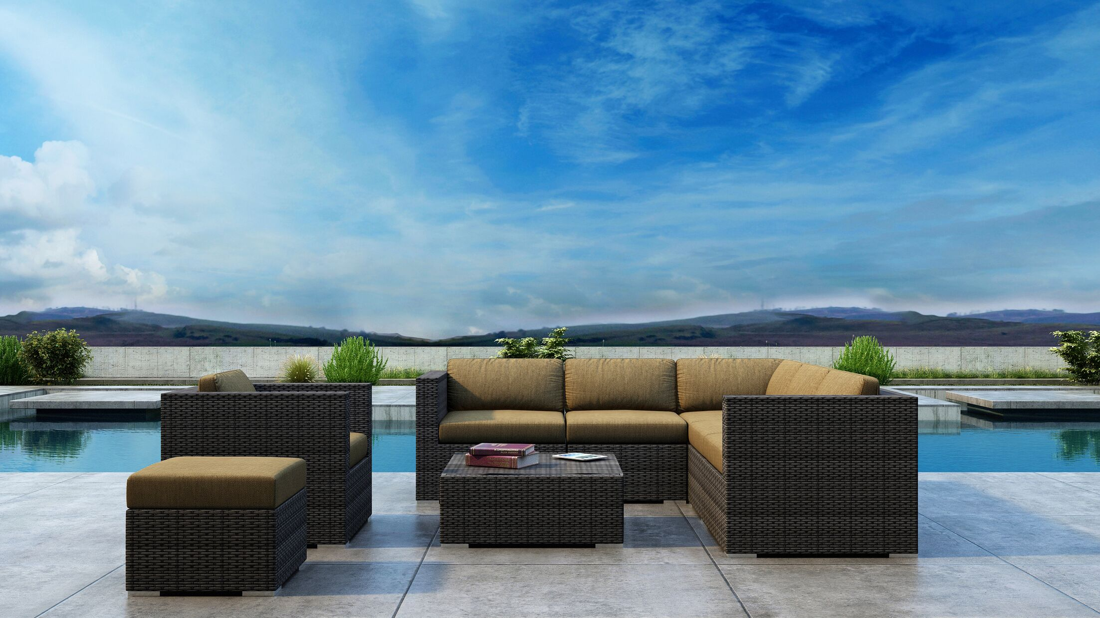 Gilleland 8 Piece Sectional Set with Sunbrella Cushion Cushion Color: Heather Beige