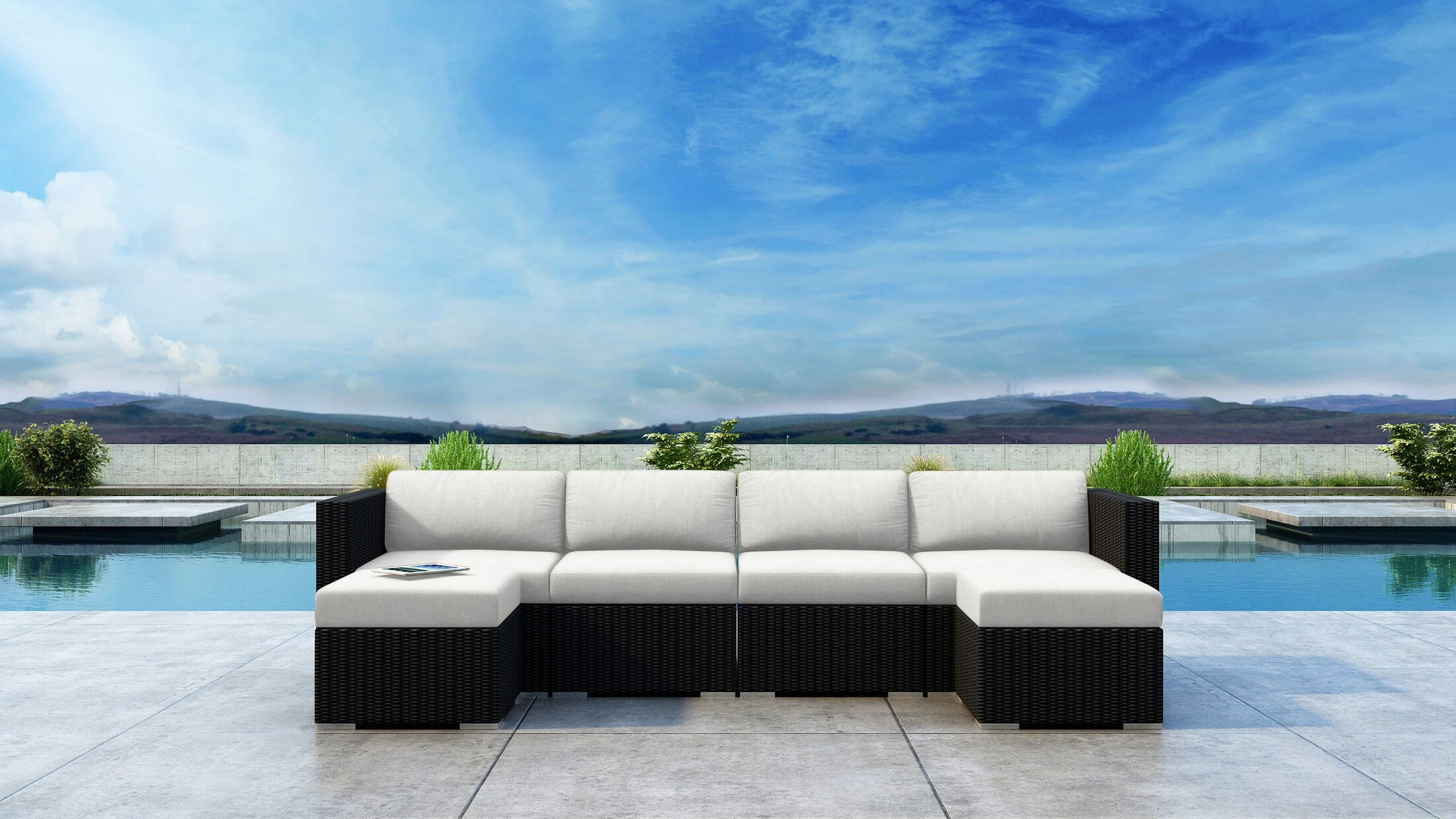 Glendale 6 Piece Sectional Set with Sunbrella Cushion Cushion Color: Canvas Natural