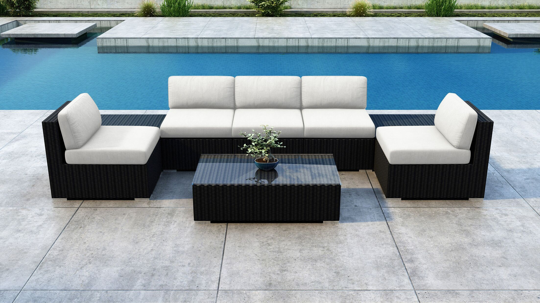 Glendale 8 Piece Sectional Set with Sunbrella Cushion Cushion Color: Canvas Natural